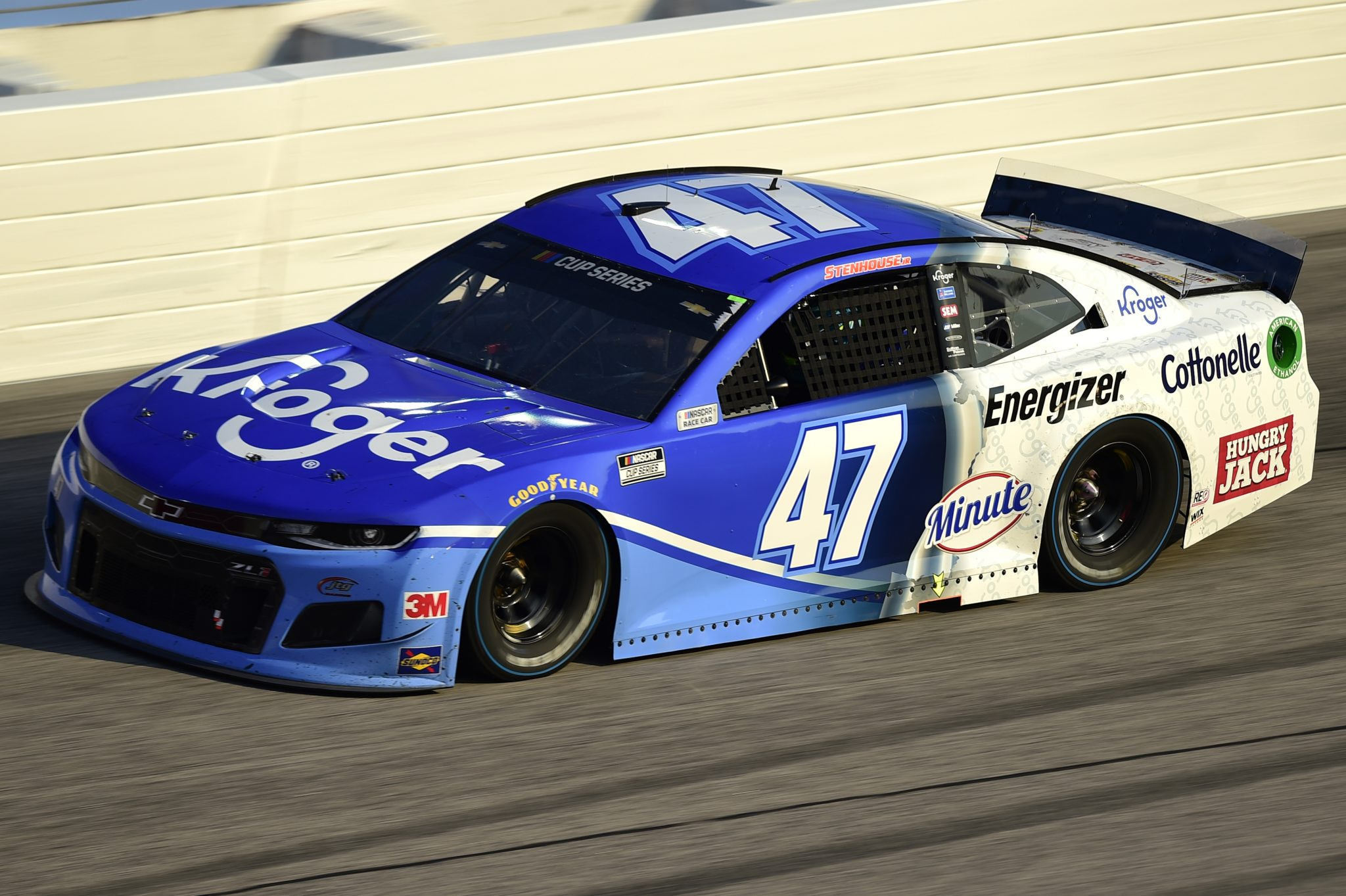 DARLINGTON, SOUTH CAROLINA - SEPTEMBER 06: Ricky Stenhouse Jr., driver of the #47 Kroger Chevrolet, drives during the NASCAR Cup Series Cook Out Southern 500 at Darlington Raceway on September 06, 2020 in Darlington, South Carolina. (Photo by Jared C. Tilton/Getty Images) | Getty Images