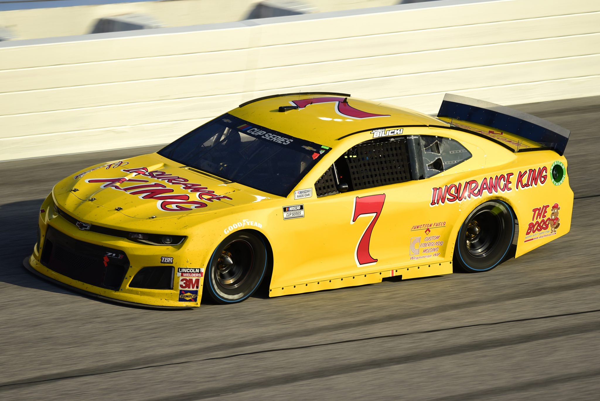 DARLINGTON, SOUTH CAROLINA - SEPTEMBER 06: Josh Bilicki, driver of the #7 Insurance King Chevrolet, drives during the NASCAR Cup Series Cook Out Southern 500 at Darlington Raceway on September 06, 2020 in Darlington, South Carolina. (Photo by Jared C. Tilton/Getty Images) | Getty Images