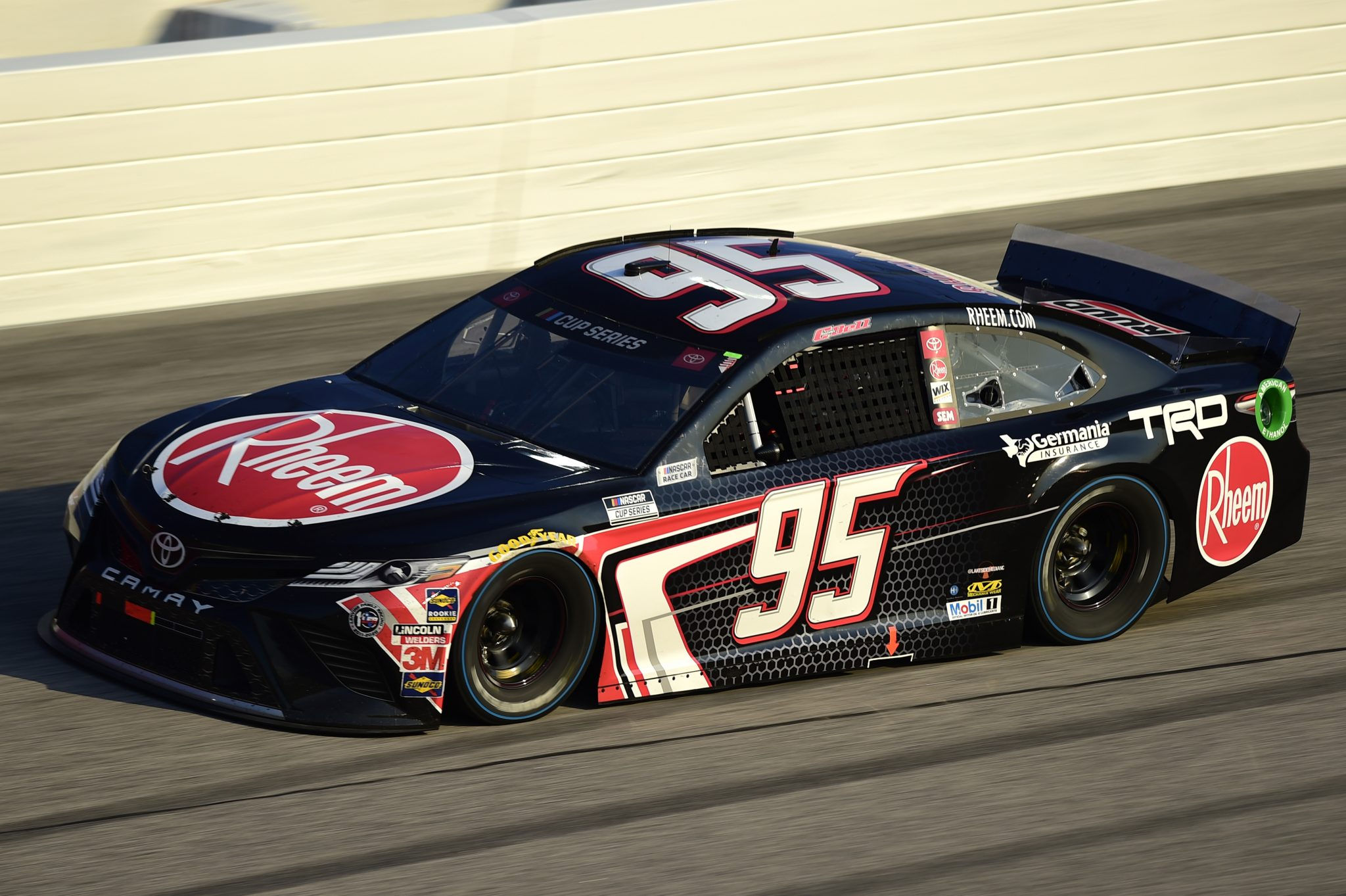 DARLINGTON, SOUTH CAROLINA - SEPTEMBER 06: Christopher Bell, driver of the #95 Rheem Toyota, drives during the NASCAR Cup Series Cook Out Southern 500 at Darlington Raceway on September 06, 2020 in Darlington, South Carolina. (Photo by Jared C. Tilton/Getty Images) | Getty Images