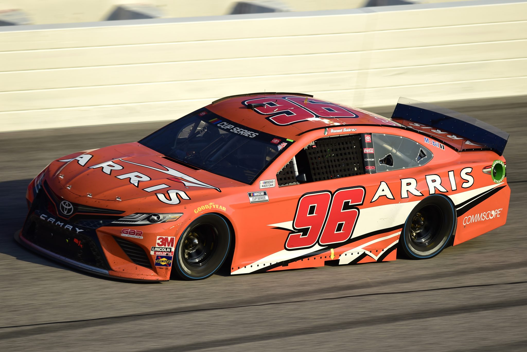 DARLINGTON, SOUTH CAROLINA - SEPTEMBER 06: Daniel Suarez, driver of the #96 ARRIS now CommScope Toyota, drives during the NASCAR Cup Series Cook Out Southern 500 at Darlington Raceway on September 06, 2020 in Darlington, South Carolina. (Photo by Jared C. Tilton/Getty Images) | Getty Images