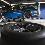 DAYTONA BEACH, FLORIDA - DECEMBER 15: The NASCAR Next Gen car sits in the garage area during the NASCAR Cup Series test at Daytona International Speedway on December 15, 2020 in Daytona Beach, Florida. (Photo by James Gilbert/Getty Images) | Getty Images