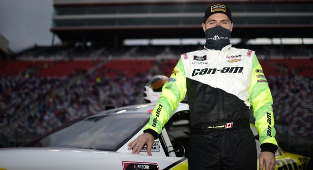 BRISTOL, TENNESSEE - SEPTEMBER 18: Alex Labbe, driver of the #36 Can-Am Chevrolet, waits on the grid prior to the NASCAR Xfinity Series Food City 300 at Bristol Motor Speedway on September 18, 2020 in Bristol, Tennessee. (Photo by Jared C. Tilton/Getty Images) | Getty Images