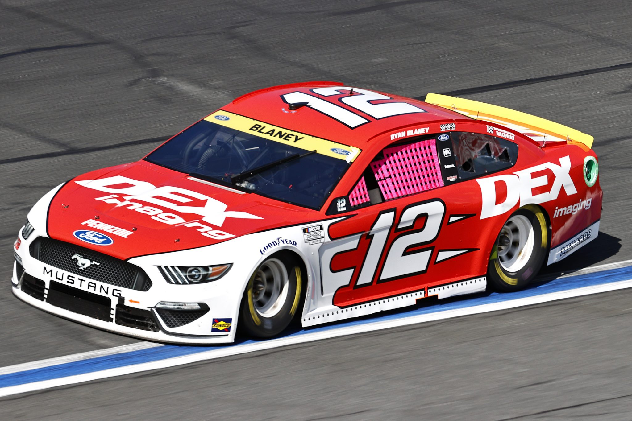CONCORD, NORTH CAROLINA - OCTOBER 10: Ryan Blaney, driver of the #12 DEX Imaging Ford, drives during the NASCAR Cup Series Bank of America ROVAL 400 at Charlotte Motor Speedway on October 10, 2021 in Concord, North Carolina. (Photo by Jared C. Tilton/Getty Images) | Getty Images