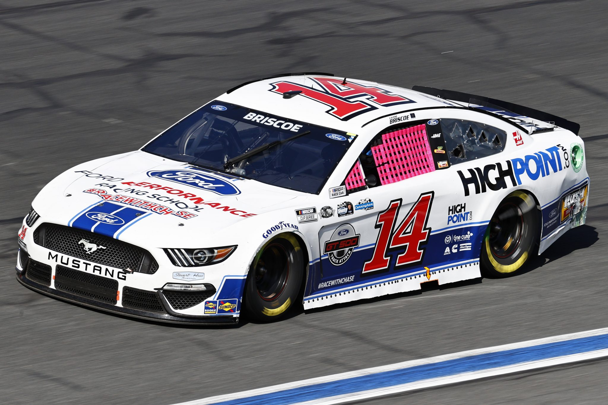 CONCORD, NORTH CAROLINA - OCTOBER 10: Chase Briscoe, driver of the #14 FordPerformanceRacingSchool/HighPoint Ford, drives during the NASCAR Cup Series Bank of America ROVAL 400 at Charlotte Motor Speedway on October 10, 2021 in Concord, North Carolina. (Photo by Jared C. Tilton/Getty Images) | Getty Images