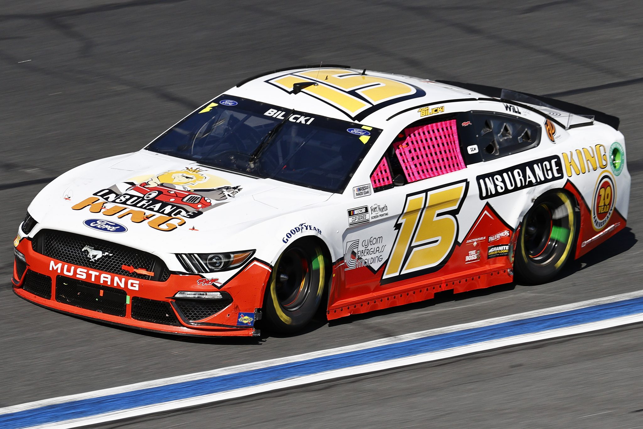 CONCORD, NORTH CAROLINA - OCTOBER 10: Josh Bilicki, driver of the #15 Insurance King Ford, drives during the NASCAR Cup Series Bank of America ROVAL 400 at Charlotte Motor Speedway on October 10, 2021 in Concord, North Carolina. (Photo by Jared C. Tilton/Getty Images) | Getty Images
