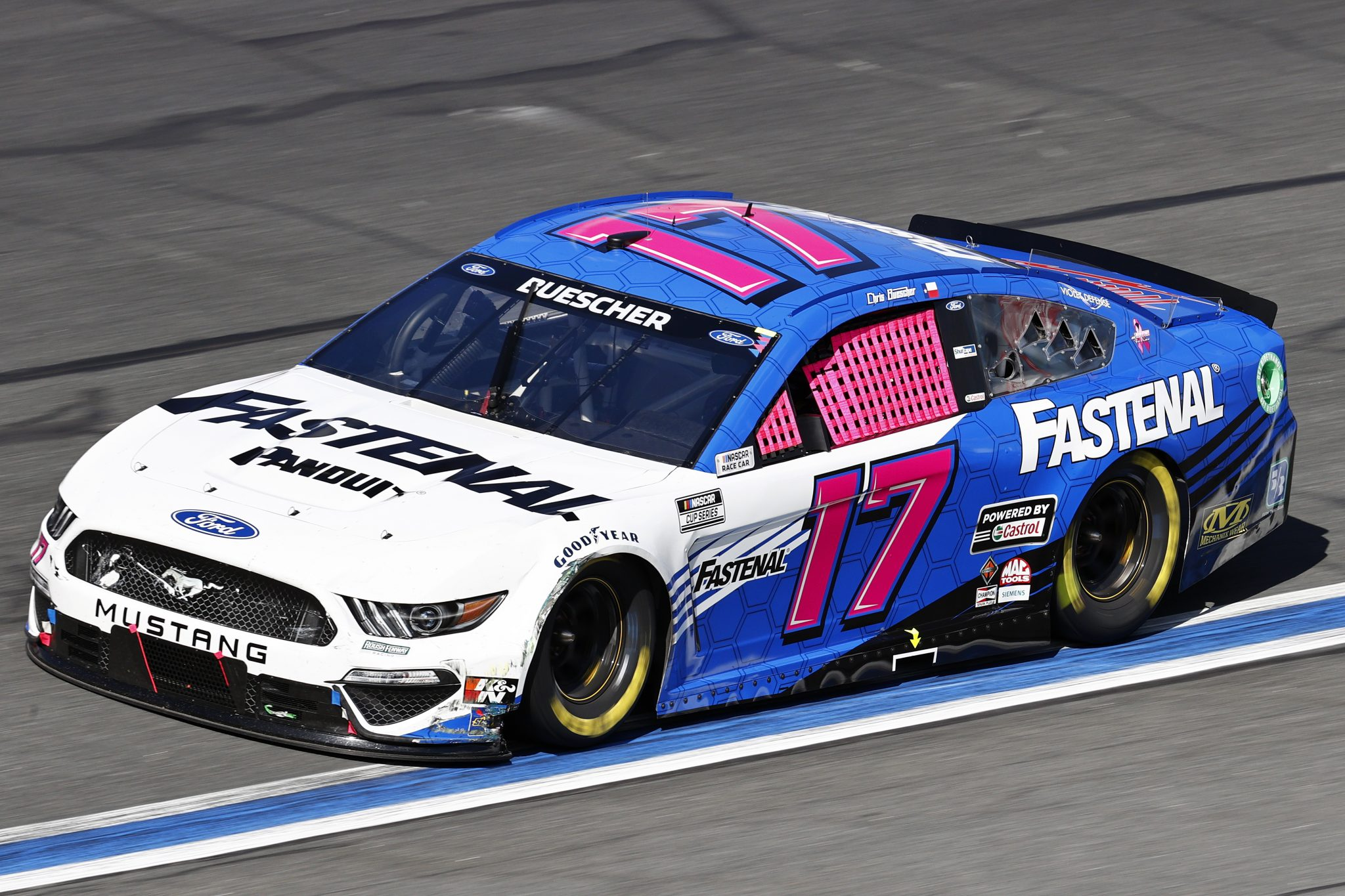 CONCORD, NORTH CAROLINA - OCTOBER 10: Chris Buescher, driver of the #17 Fastenal Ford, drives during the NASCAR Cup Series Bank of America ROVAL 400 at Charlotte Motor Speedway on October 10, 2021 in Concord, North Carolina. (Photo by Jared C. Tilton/Getty Images) | Getty Images