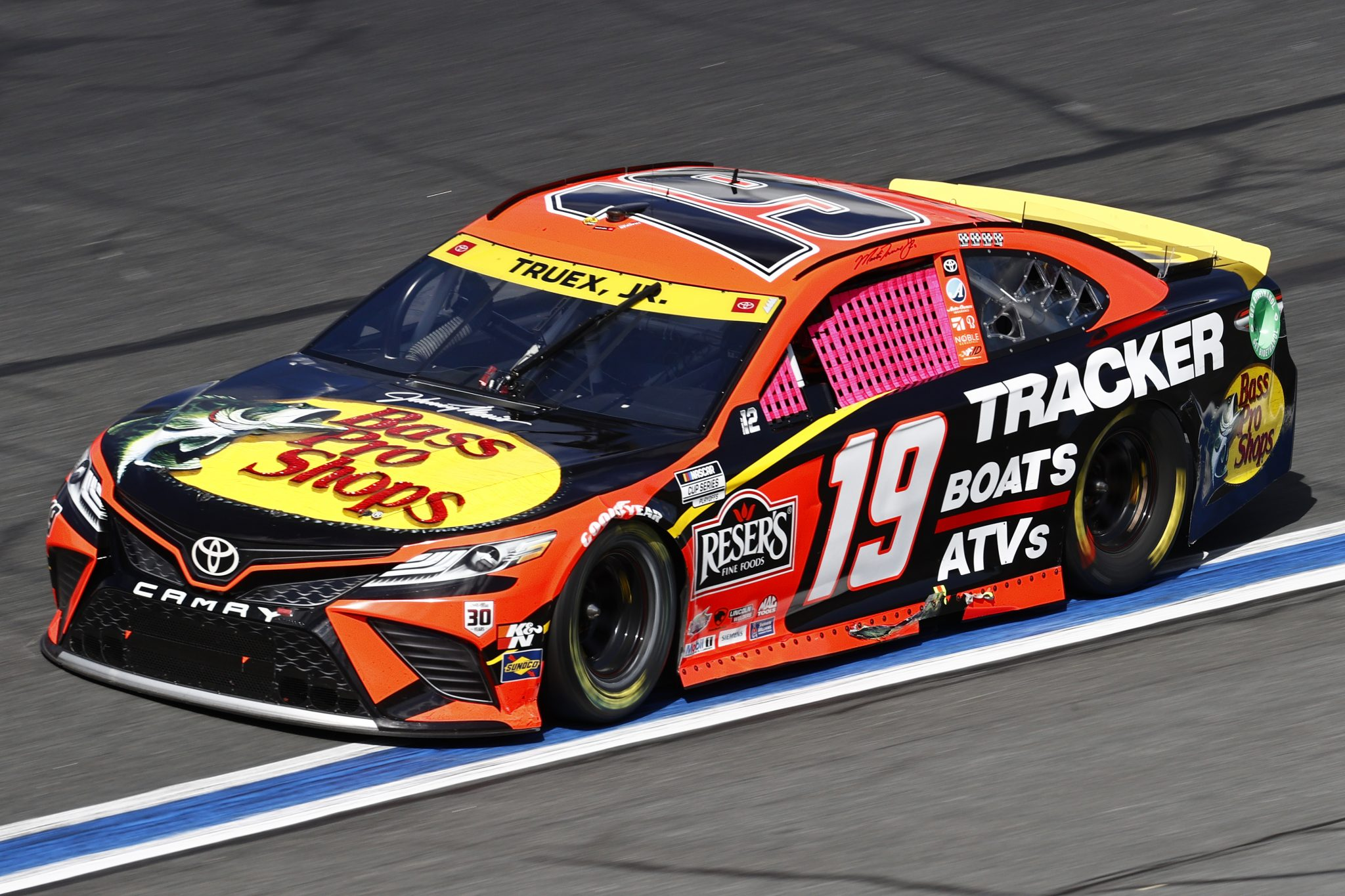 CONCORD, NORTH CAROLINA - OCTOBER 10: Martin Truex Jr., driver of the #19 Bass Pro Shops Toyota, drives during the NASCAR Cup Series Bank of America ROVAL 400 at Charlotte Motor Speedway on October 10, 2021 in Concord, North Carolina. (Photo by Jared C. Tilton/Getty Images) | Getty Images