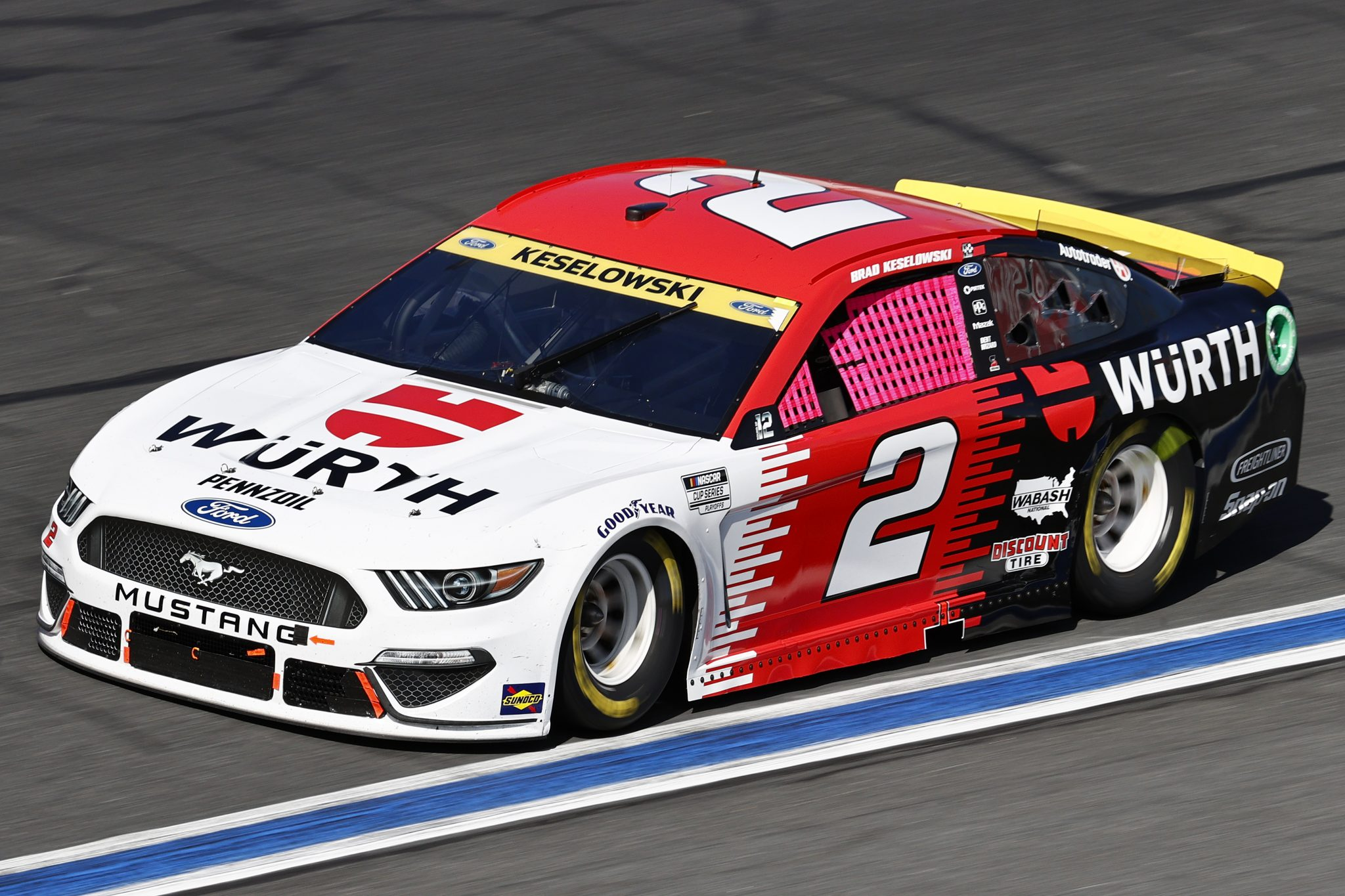 CONCORD, NORTH CAROLINA - OCTOBER 10: Brad Keselowski, driver of the #2 Wurth Ford, drives during the NASCAR Cup Series Bank of America ROVAL 400 at Charlotte Motor Speedway on October 10, 2021 in Concord, North Carolina. (Photo by Jared C. Tilton/Getty Images) | Getty Images