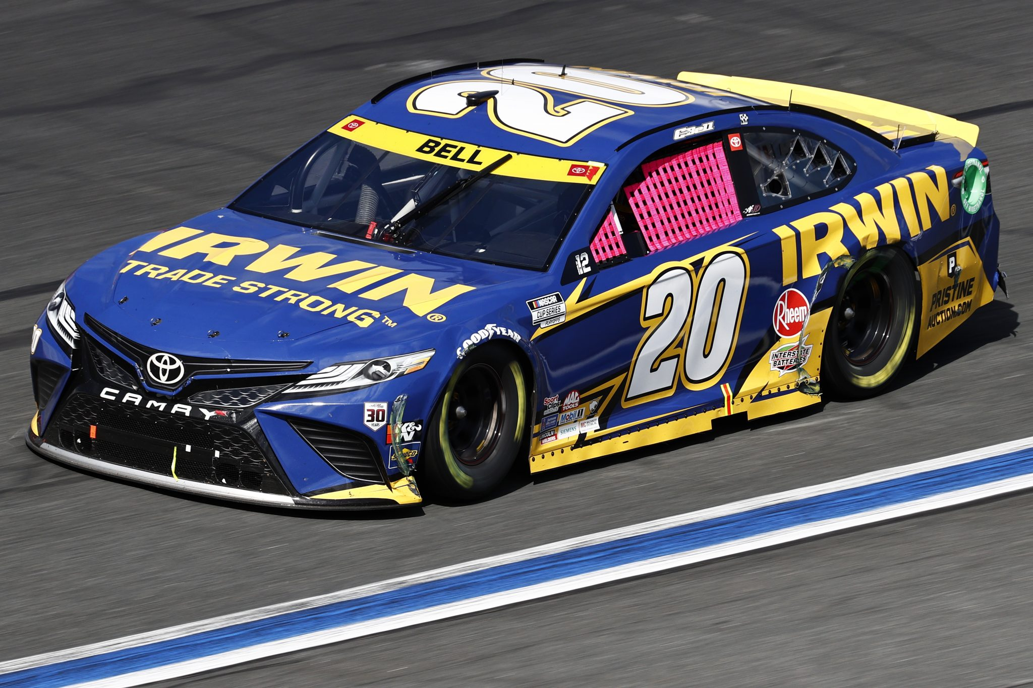 CONCORD, NORTH CAROLINA - OCTOBER 10: Christopher Bell, driver of the #20 Irwin Trade Strong Toyota, drives during the NASCAR Cup Series Bank of America ROVAL 400 at Charlotte Motor Speedway on October 10, 2021 in Concord, North Carolina. (Photo by Jared C. Tilton/Getty Images) | Getty Images