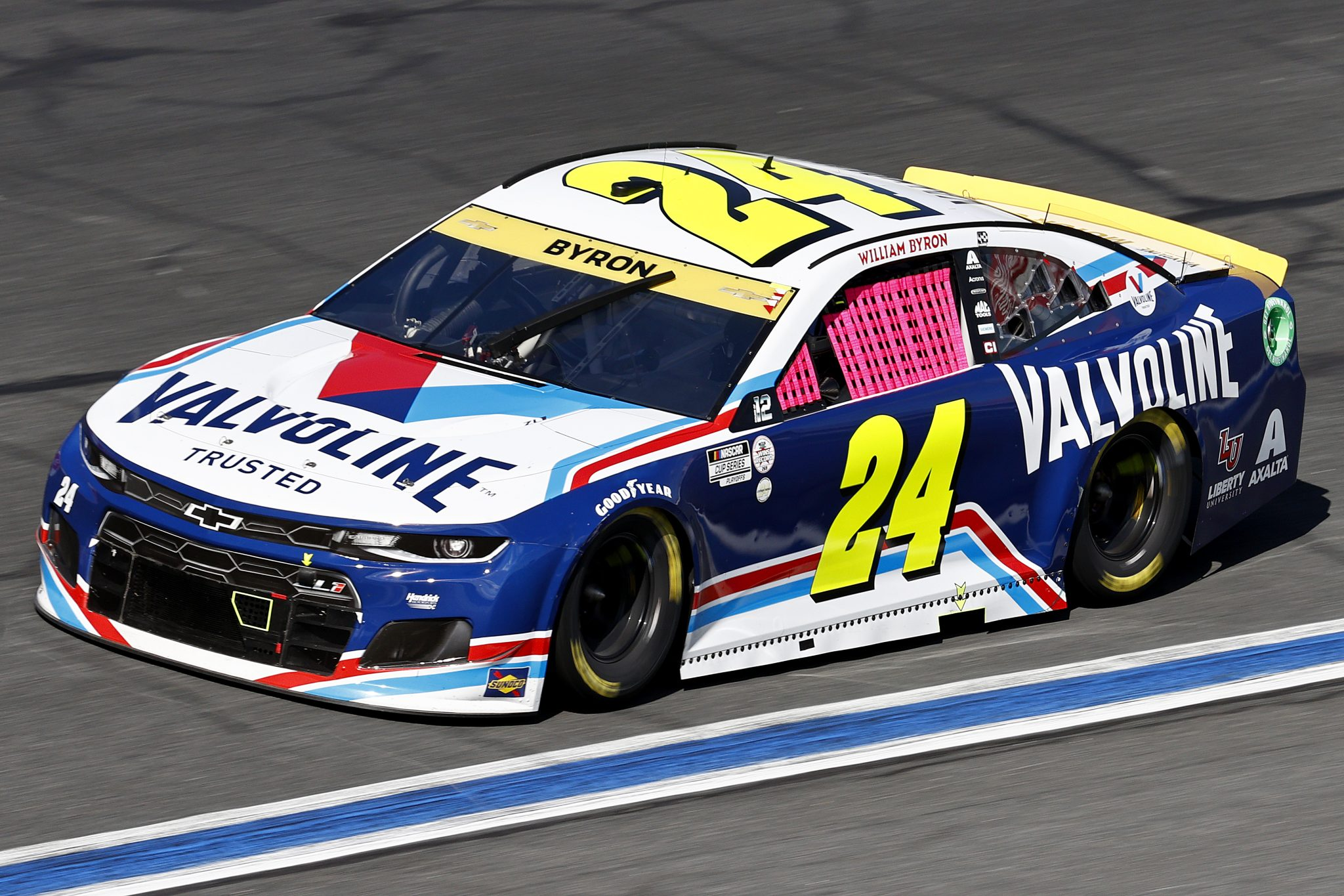 CONCORD, NORTH CAROLINA - OCTOBER 10: William Byron, driver of the #24 Valvoline Chevrolet, drives during the NASCAR Cup Series Bank of America ROVAL 400 at Charlotte Motor Speedway on October 10, 2021 in Concord, North Carolina. (Photo by Jared C. Tilton/Getty Images) | Getty Images