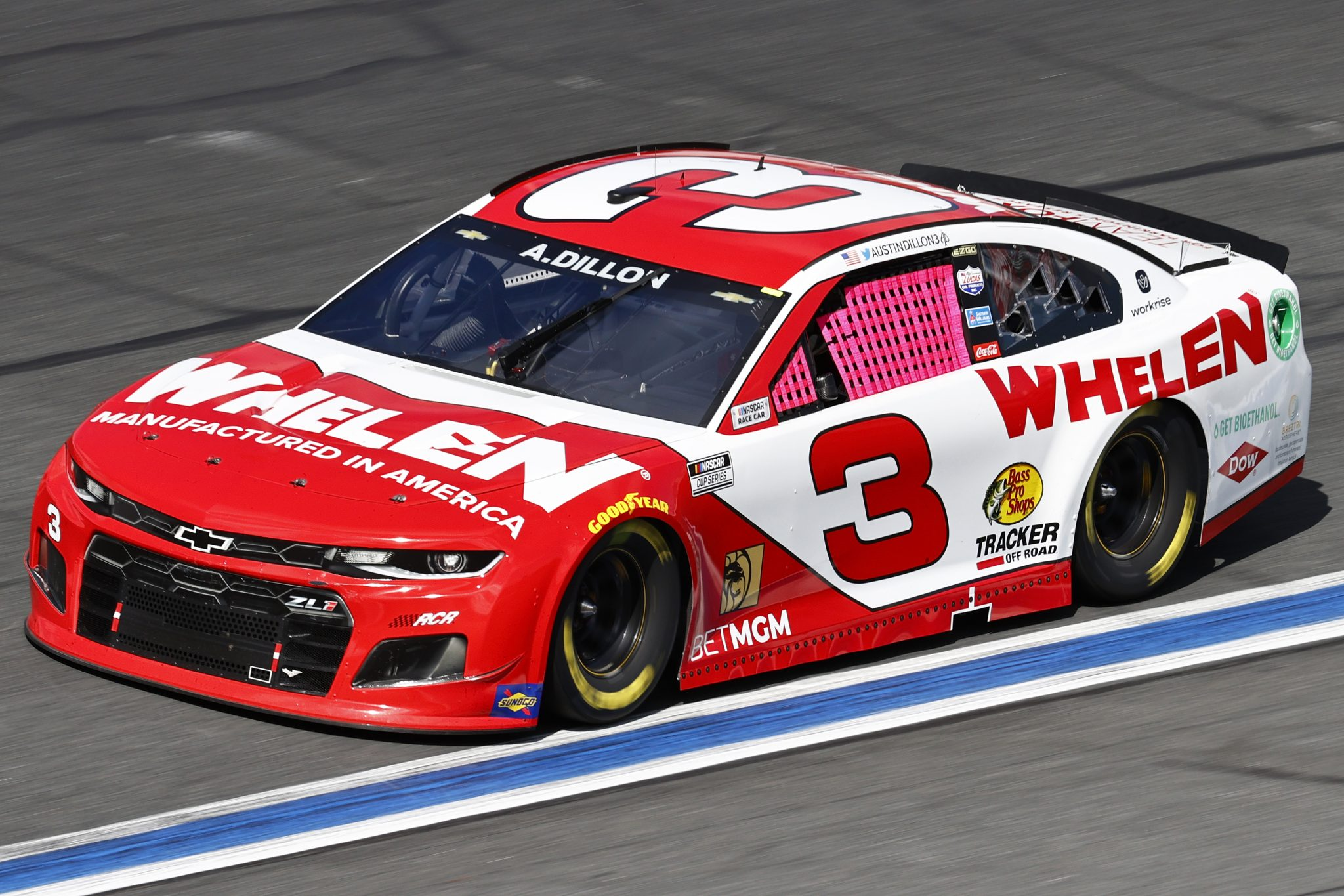 CONCORD, NORTH CAROLINA - OCTOBER 10: Austin Dillon, driver of the #3 Whelen Chevrolet, drives during the NASCAR Cup Series Bank of America ROVAL 400 at Charlotte Motor Speedway on October 10, 2021 in Concord, North Carolina. (Photo by Jared C. Tilton/Getty Images) | Getty Images