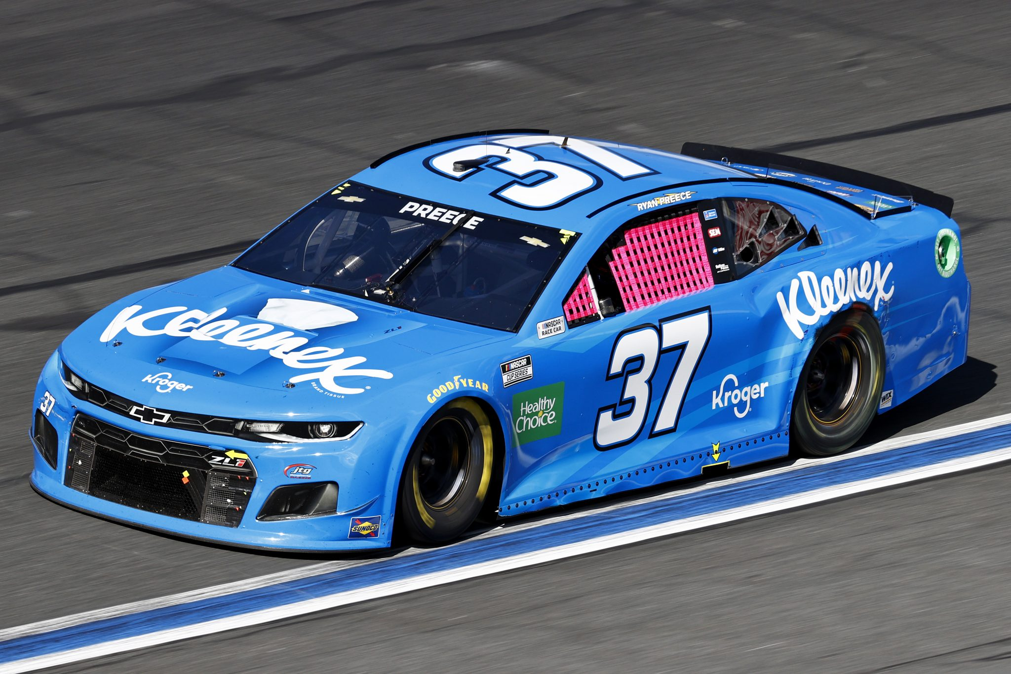 CONCORD, NORTH CAROLINA - OCTOBER 10: Ryan Preece, driver of the #37 Kleenex Chevrolet, drives during the NASCAR Cup Series Bank of America ROVAL 400 at Charlotte Motor Speedway on October 10, 2021 in Concord, North Carolina. (Photo by Jared C. Tilton/Getty Images) | Getty Images