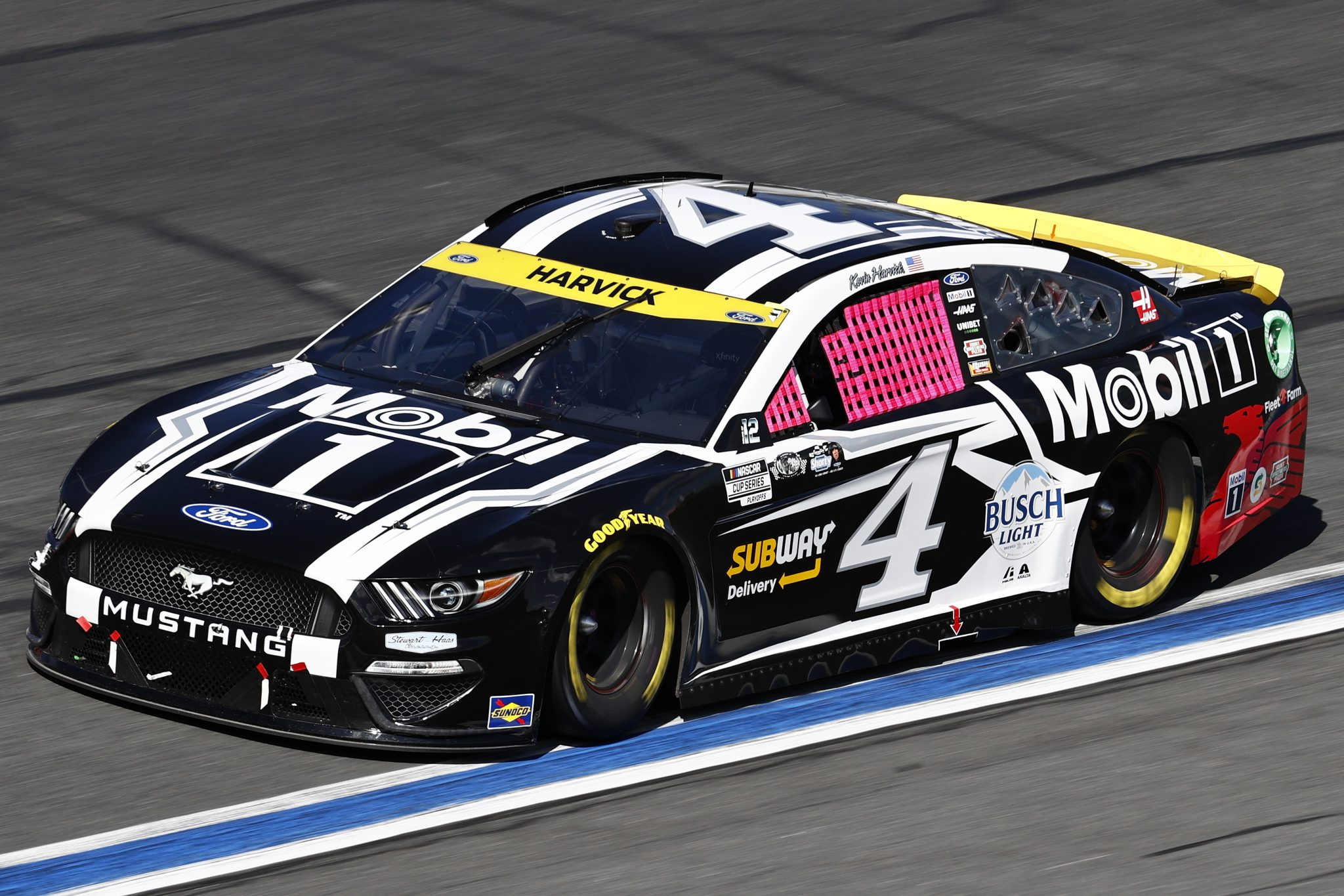 CONCORD, NORTH CAROLINA - OCTOBER 10: Kevin Harvick, driver of the #4 Mobil 1 Ford, drives during the NASCAR Cup Series Bank of America ROVAL 400 at Charlotte Motor Speedway on October 10, 2021 in Concord, North Carolina. (Photo by Jared C. Tilton/Getty Images) | Getty Images