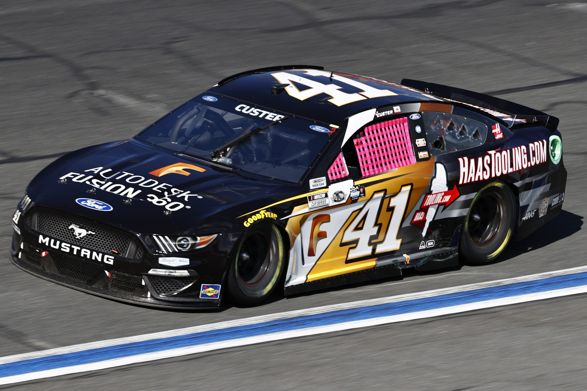 CONCORD, NORTH CAROLINA - OCTOBER 10: Cole Custer, driver of the #41 Autodesk/HaasTooling.com Ford, drives during the NASCAR Cup Series Bank of America ROVAL 400 at Charlotte Motor Speedway on October 10, 2021 in Concord, North Carolina. (Photo by Jared C. Tilton/Getty Images) | Getty Images