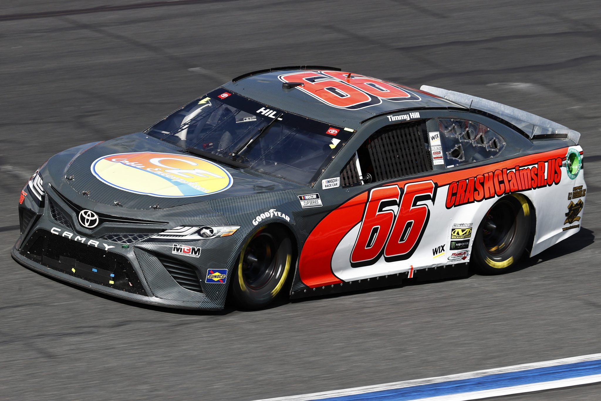 CONCORD, NORTH CAROLINA - OCTOBER 10: Timmy Hill, driver of the #66 Coble Enterprises Toyota, drives during the NASCAR Cup Series Bank of America ROVAL 400 at Charlotte Motor Speedway on October 10, 2021 in Concord, North Carolina. (Photo by Jared C. Tilton/Getty Images) | Getty Images