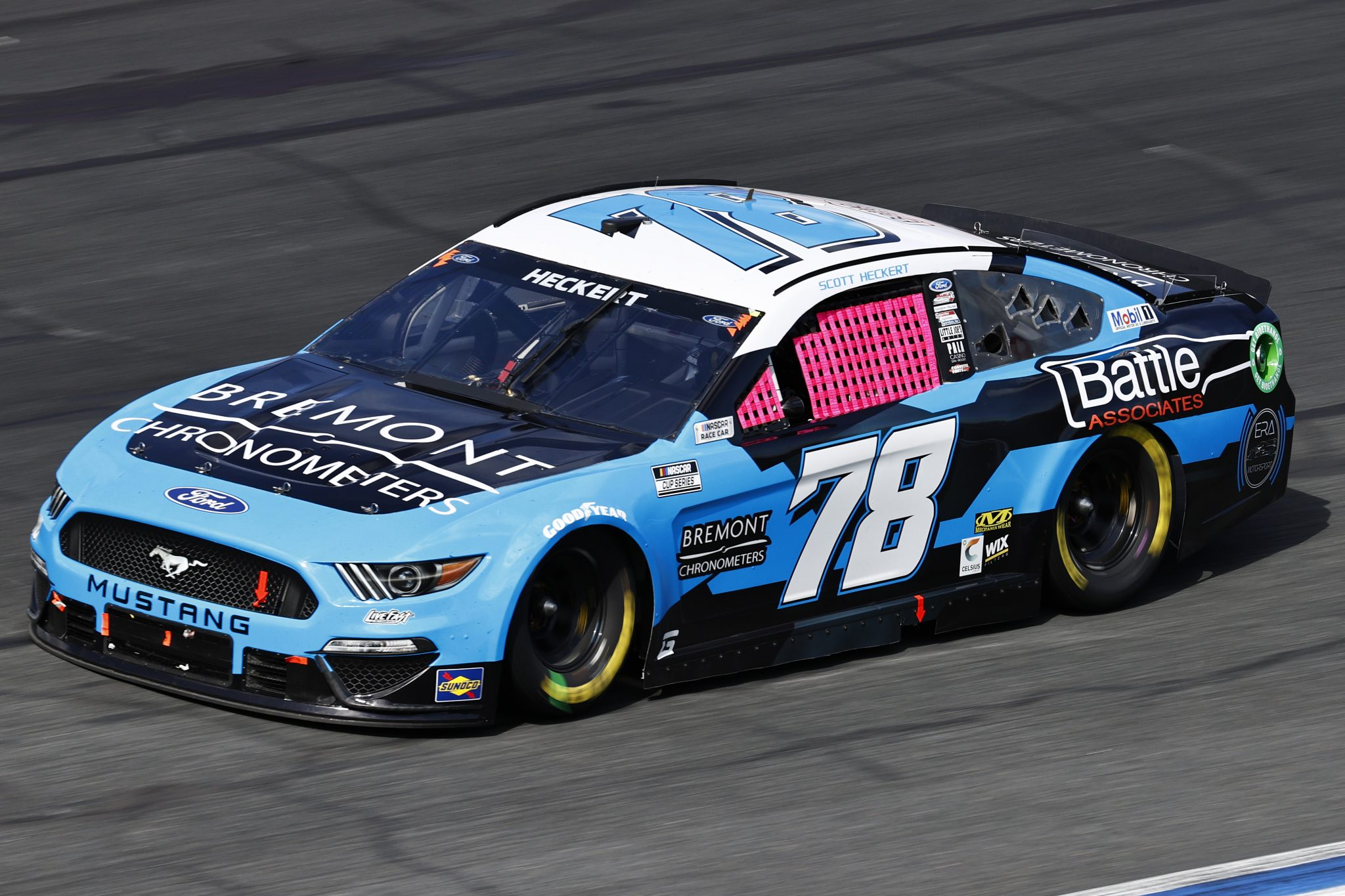 CONCORD, NORTH CAROLINA - OCTOBER 10: Scott Heckert, driver of the #78 Bremont Chronometers Ford, drives during the NASCAR Cup Series Bank of America ROVAL 400 at Charlotte Motor Speedway on October 10, 2021 in Concord, North Carolina. (Photo by Jared C. Tilton/Getty Images) | Getty Images