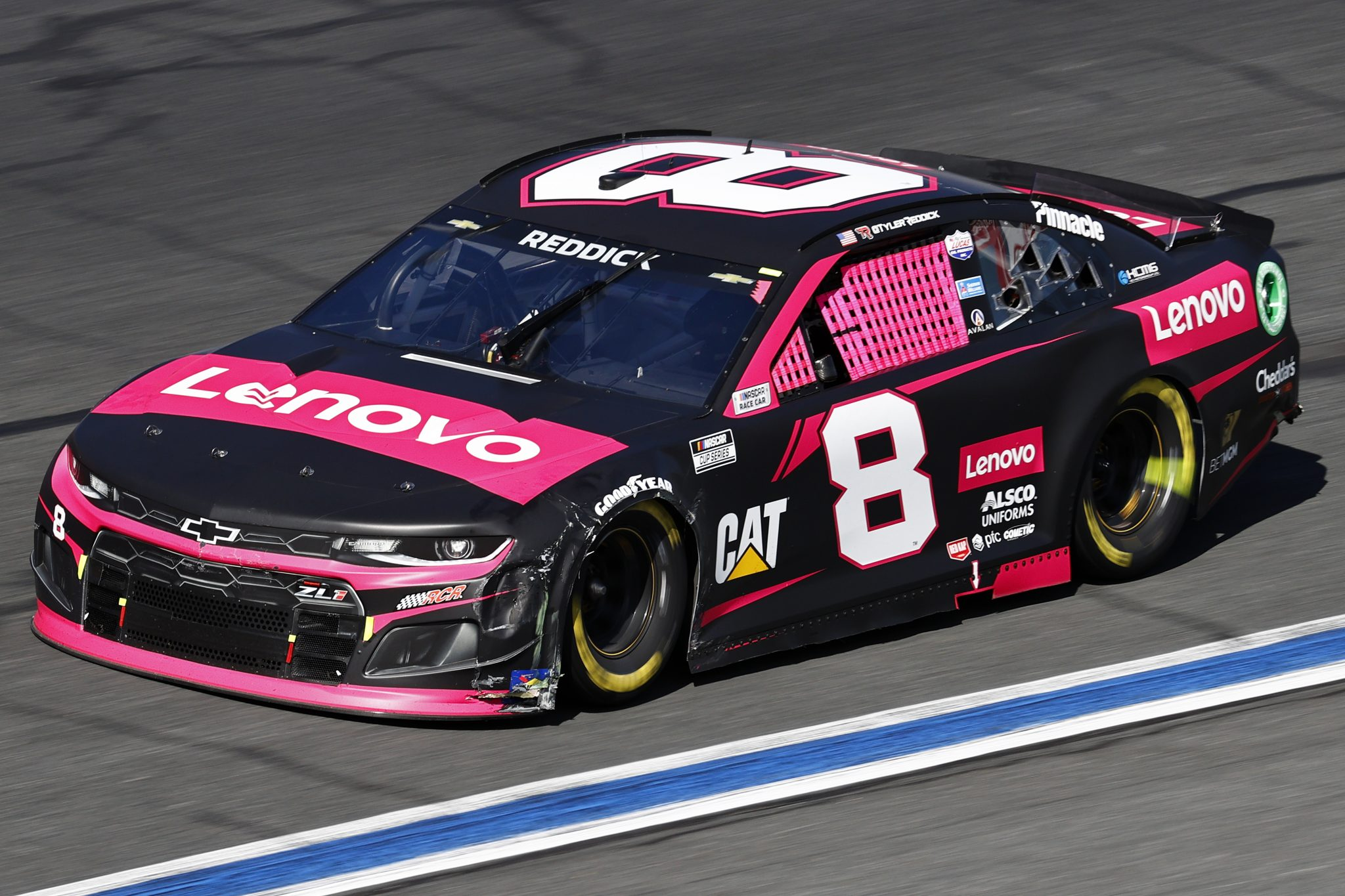CONCORD, NORTH CAROLINA - OCTOBER 10: Tyler Reddick, driver of the #8 Lenovo Chevrolet, drives during the NASCAR Cup Series Bank of America ROVAL 400 at Charlotte Motor Speedway on October 10, 2021 in Concord, North Carolina. (Photo by Jared C. Tilton/Getty Images) | Getty Images