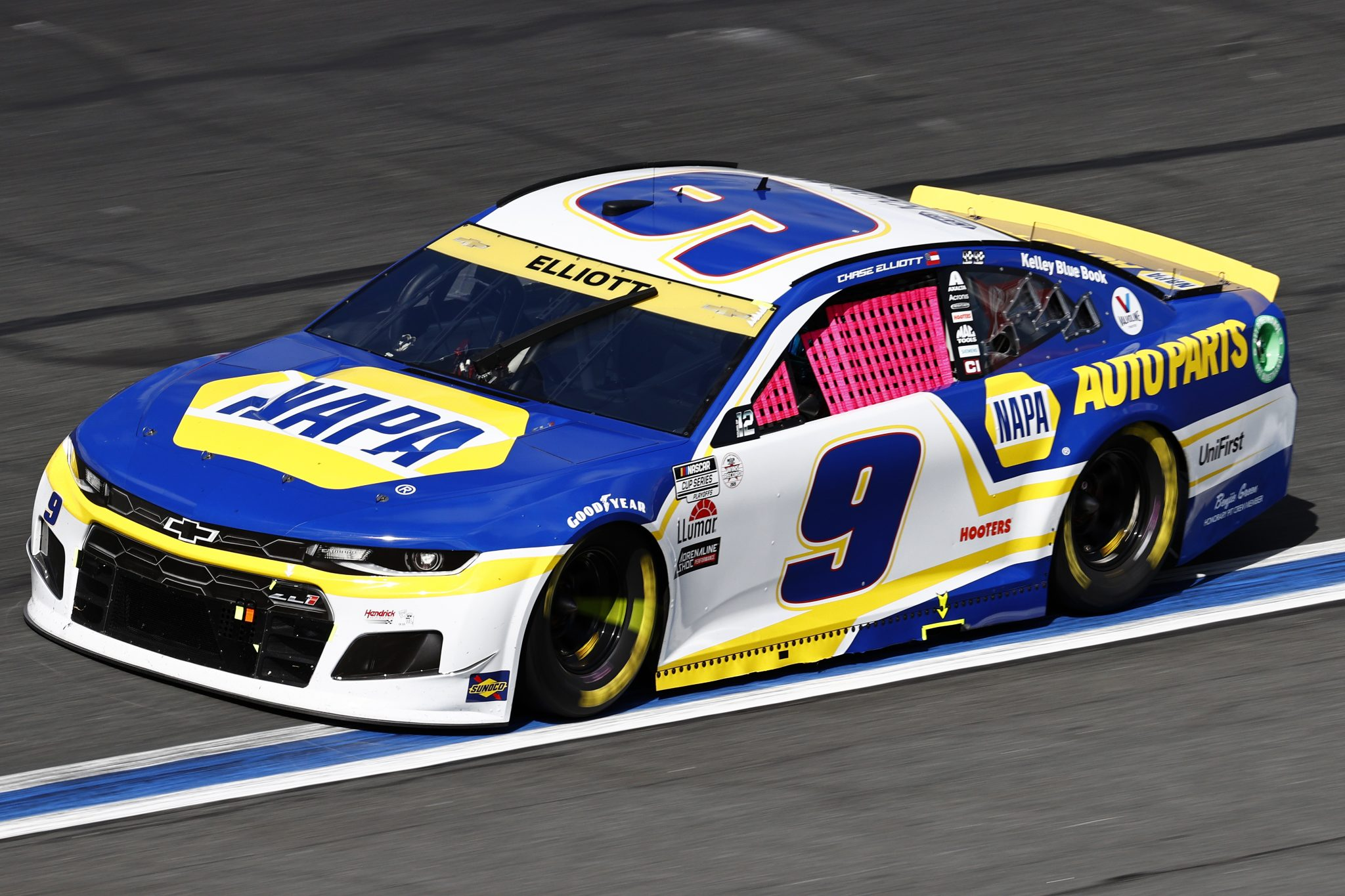 CONCORD, NORTH CAROLINA - OCTOBER 10: Chase Elliott, driver of the #9 NAPA Auto Parts Chevrolet, drives during the NASCAR Cup Series Bank of America ROVAL 400 at Charlotte Motor Speedway on October 10, 2021 in Concord, North Carolina. (Photo by Jared C. Tilton/Getty Images) | Getty Images