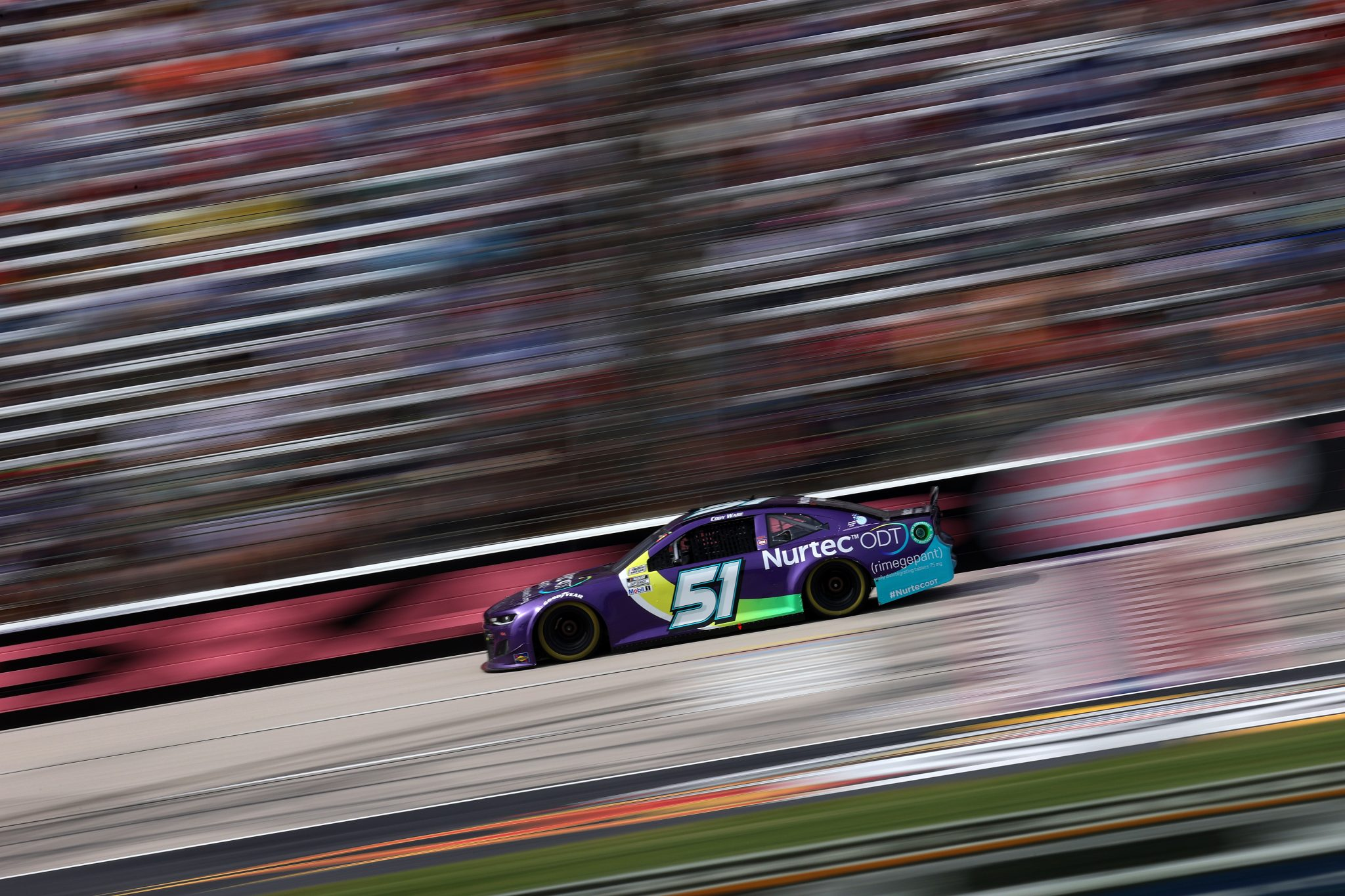 FORT WORTH, TEXAS - OCTOBER 17: Cody Ware, driver of the #51 Nurtec ODT Chevrolet, drives during the NASCAR Cup Series Autotrader EchoPark Automotive 500 at Texas Motor Speedway on October 17, 2021 in Fort Worth, Texas. (Photo by Chris Graythen/Getty Images) | Getty Images