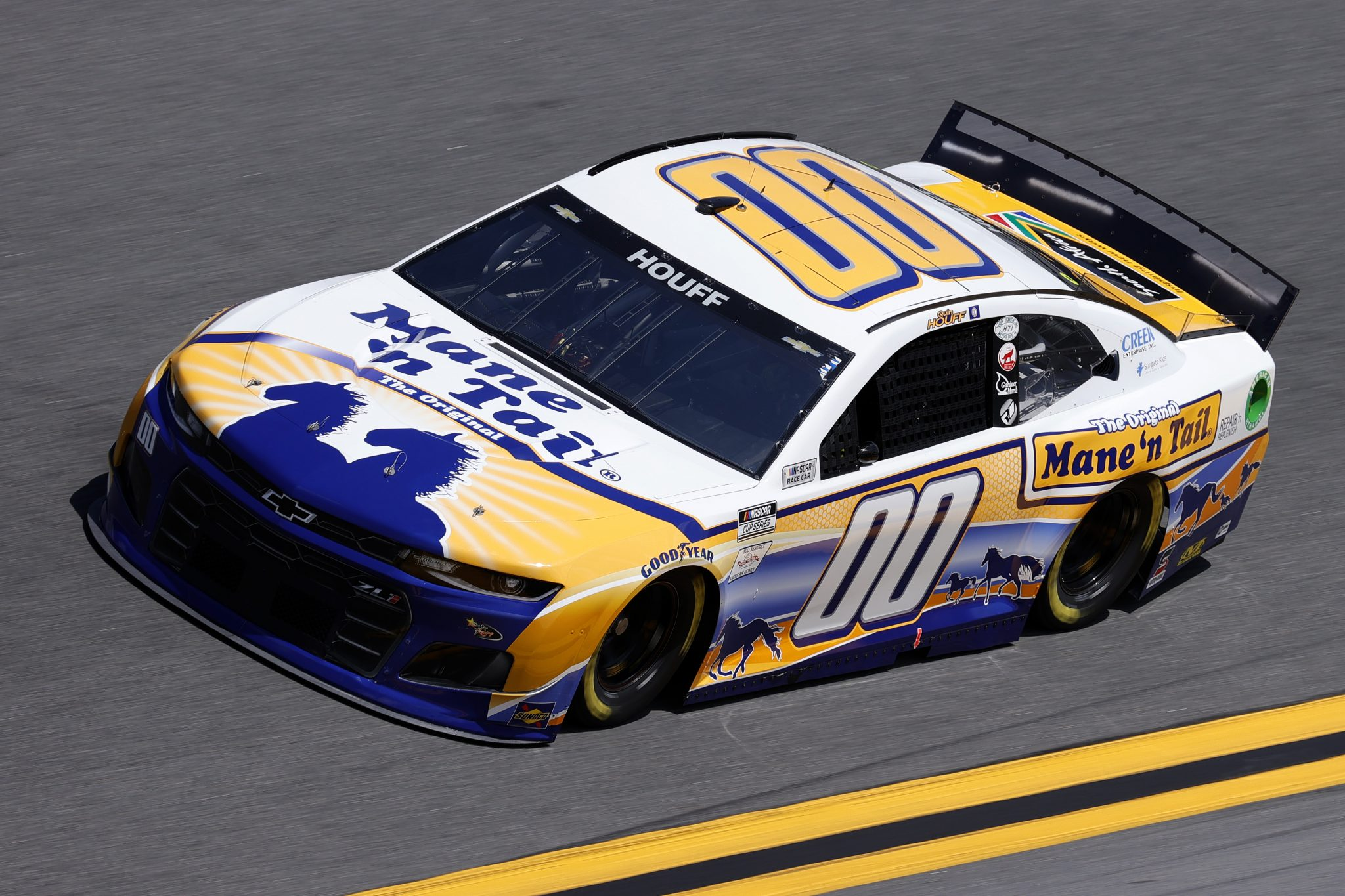 DAYTONA BEACH, FLORIDA - FEBRUARY 10: Quin Houff, driver of the #00 Mane 'n Tail Chevrolet, drives during practice for the NASCAR Cup Series 63rd Annual Daytona 500 at Daytona International Speedway on February 10, 2021 in Daytona Beach, Florida. (Photo by Jared C. Tilton/Getty Images) | Getty Images