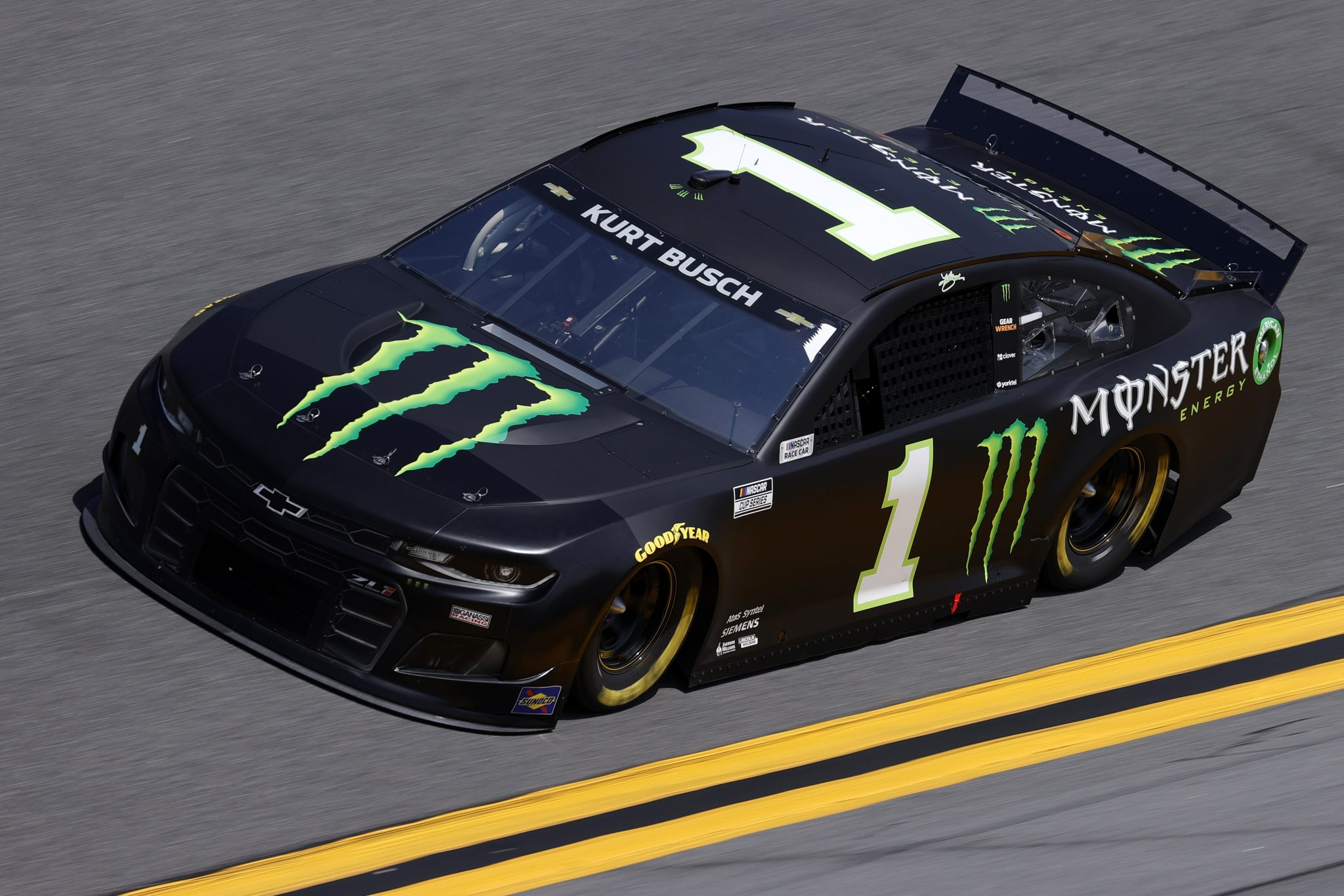 DAYTONA BEACH, FLORIDA - FEBRUARY 10: Kurt Busch, driver of the #1 Monster Energy Chevrolet, drives during practice for the NASCAR Cup Series 63rd Annual Daytona 500 at Daytona International Speedway on February 10, 2021 in Daytona Beach, Florida. (Photo by Jared C. Tilton/Getty Images) | Getty Images