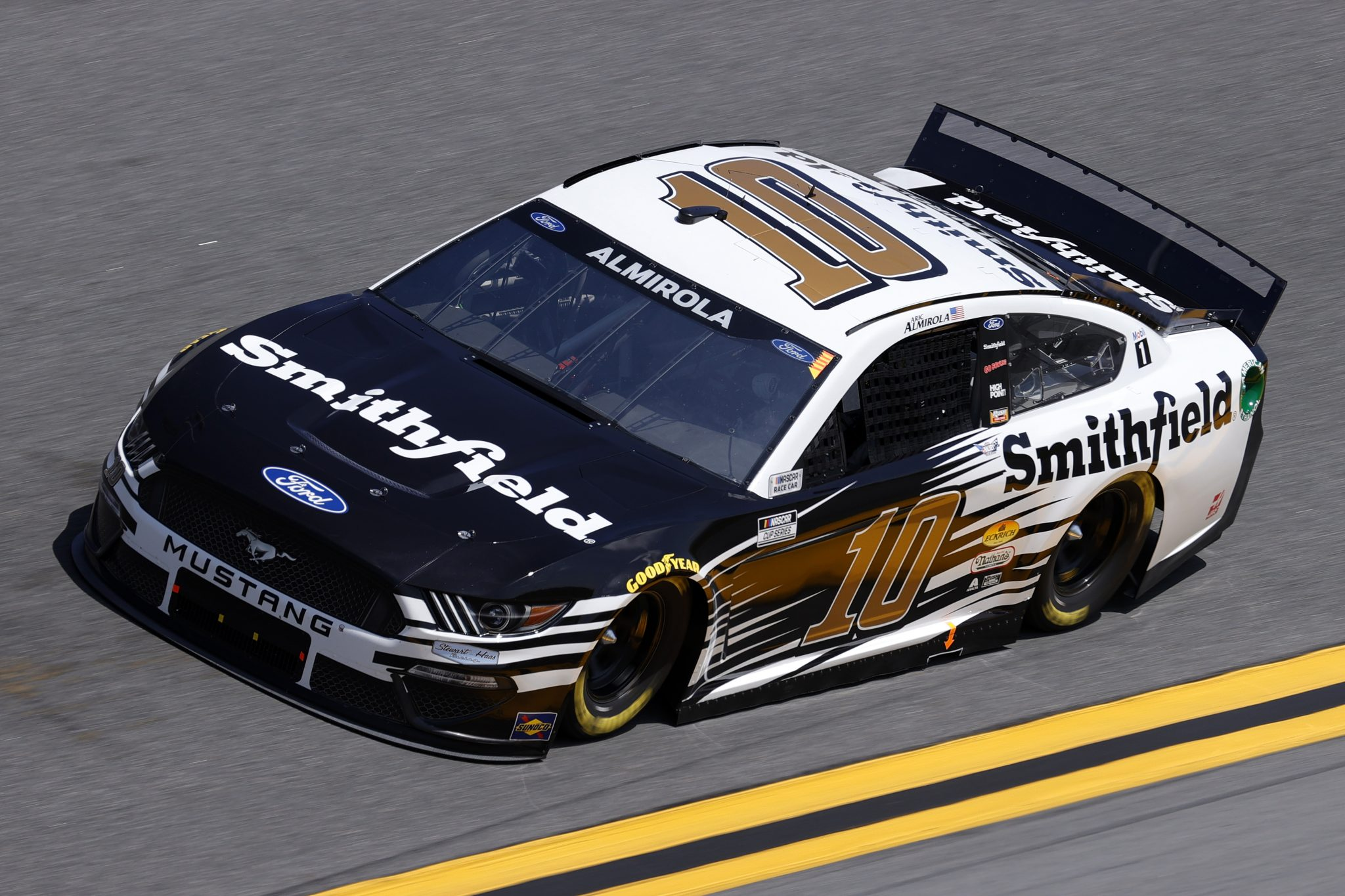 DAYTONA BEACH, FLORIDA - FEBRUARY 10: Aric Almirola, driver of the #10 Smithfield Ford, drives during practice for the NASCAR Cup Series 63rd Annual Daytona 500 at Daytona International Speedway on February 10, 2021 in Daytona Beach, Florida. (Photo by Jared C. Tilton/Getty Images) | Getty Images