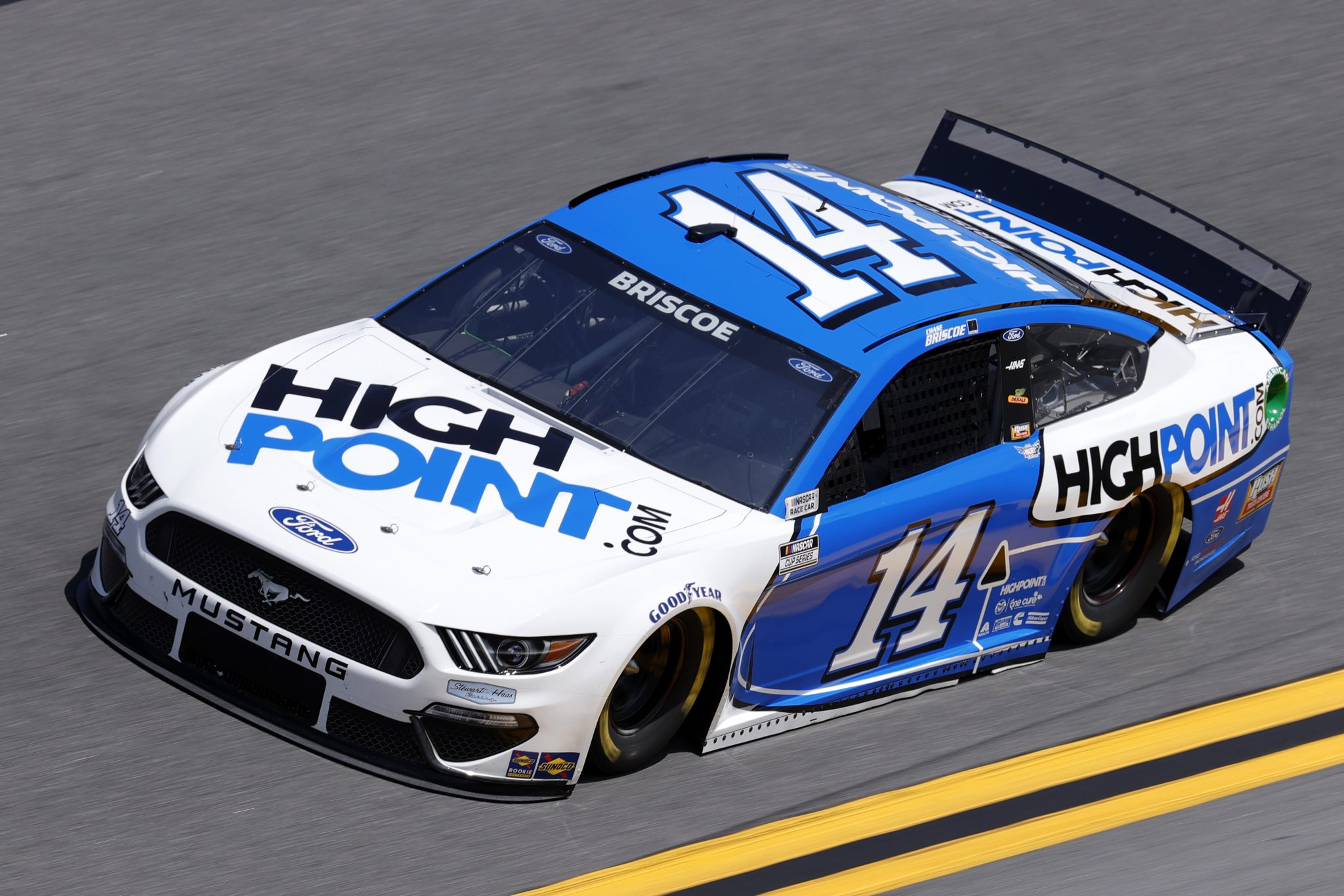 DAYTONA BEACH, FLORIDA - FEBRUARY 10: Chase Briscoe, driver of the #14 HighPoint.com Ford, drives during practice for the NASCAR Cup Series 63rd Annual Daytona 500 at Daytona International Speedway on February 10, 2021 in Daytona Beach, Florida. (Photo by Jared C. Tilton/Getty Images) | Getty Images