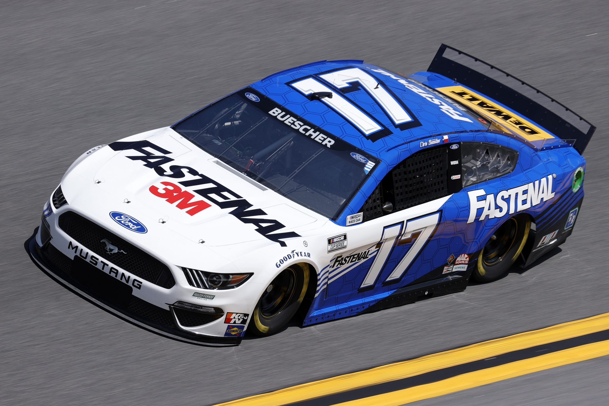 DAYTONA BEACH, FLORIDA - FEBRUARY 10: Chris Buescher, driver of the #17 Fastenal Ford, drives during practice for the NASCAR Cup Series 63rd Annual Daytona 500 at Daytona International Speedway on February 10, 2021 in Daytona Beach, Florida. (Photo by Jared C. Tilton/Getty Images) | Getty Images