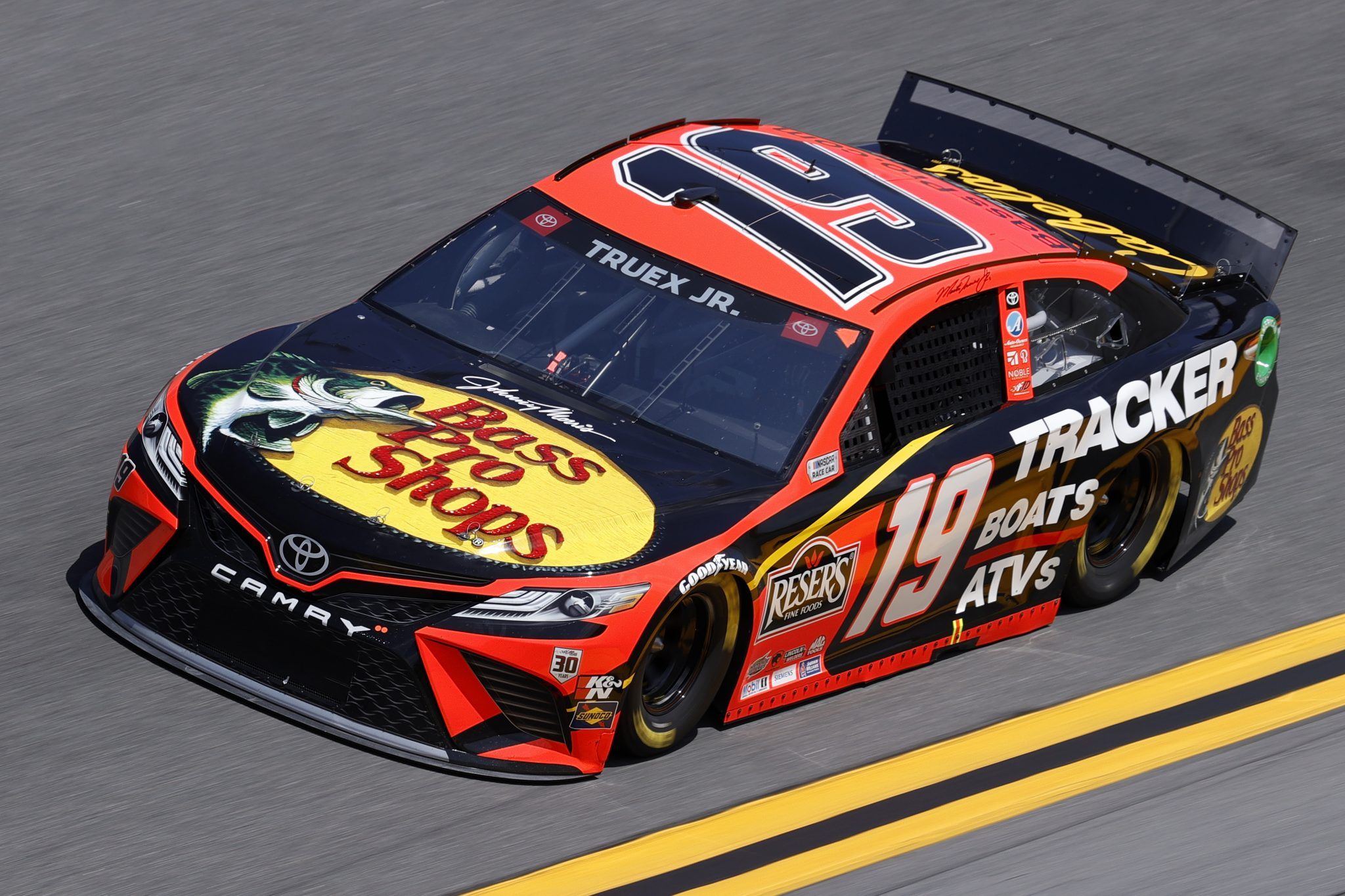 DAYTONA BEACH, FLORIDA - FEBRUARY 10: Martin Truex Jr., driver of the #19 Bass Pro Shops Toyota, drives during practice for the NASCAR Cup Series 63rd Annual Daytona 500 at Daytona International Speedway on February 10, 2021 in Daytona Beach, Florida. (Photo by Jared C. Tilton/Getty Images) | Getty Images