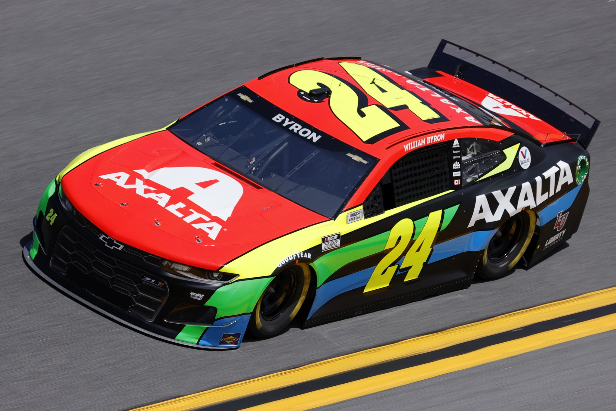 DAYTONA BEACH, FLORIDA - FEBRUARY 10: William Byron, driver of the #24 Axalta Chevrolet, drives during practice for the NASCAR Cup Series 63rd Annual Daytona 500 at Daytona International Speedway on February 10, 2021 in Daytona Beach, Florida. (Photo by Jared C. Tilton/Getty Images) | Getty Images