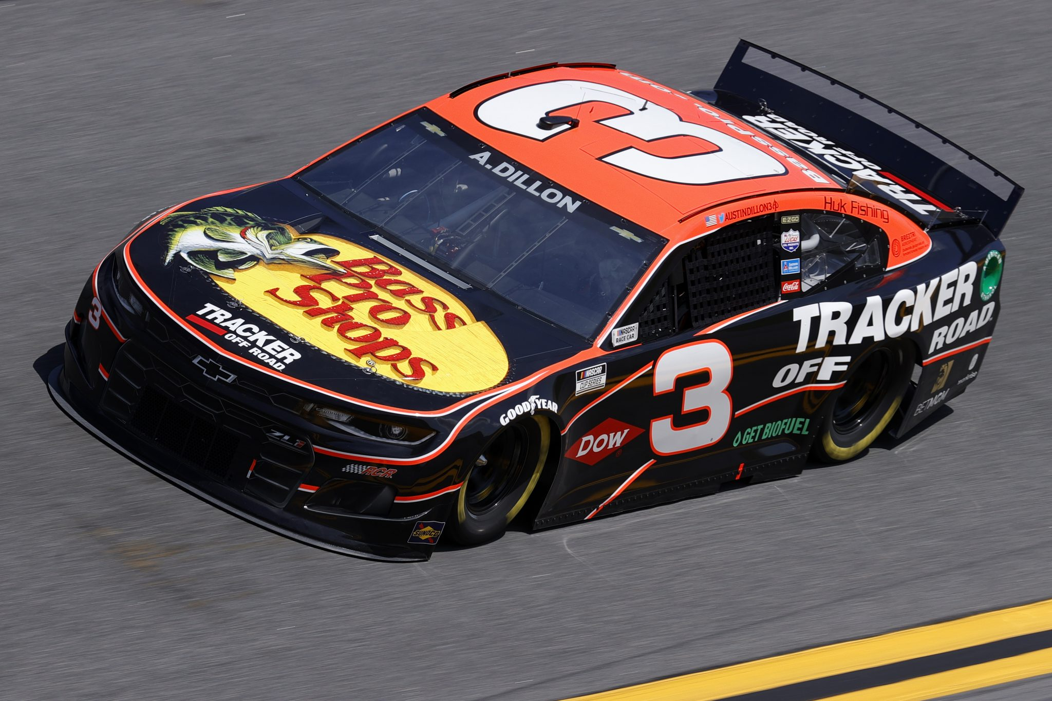 DAYTONA BEACH, FLORIDA - FEBRUARY 10: Austin Dillon, driver of the #3 Bass Pro Shops Chevrolet, drives during practice for the NASCAR Cup Series 63rd Annual Daytona 500 at Daytona International Speedway on February 10, 2021 in Daytona Beach, Florida. (Photo by Jared C. Tilton/Getty Images) | Getty Images