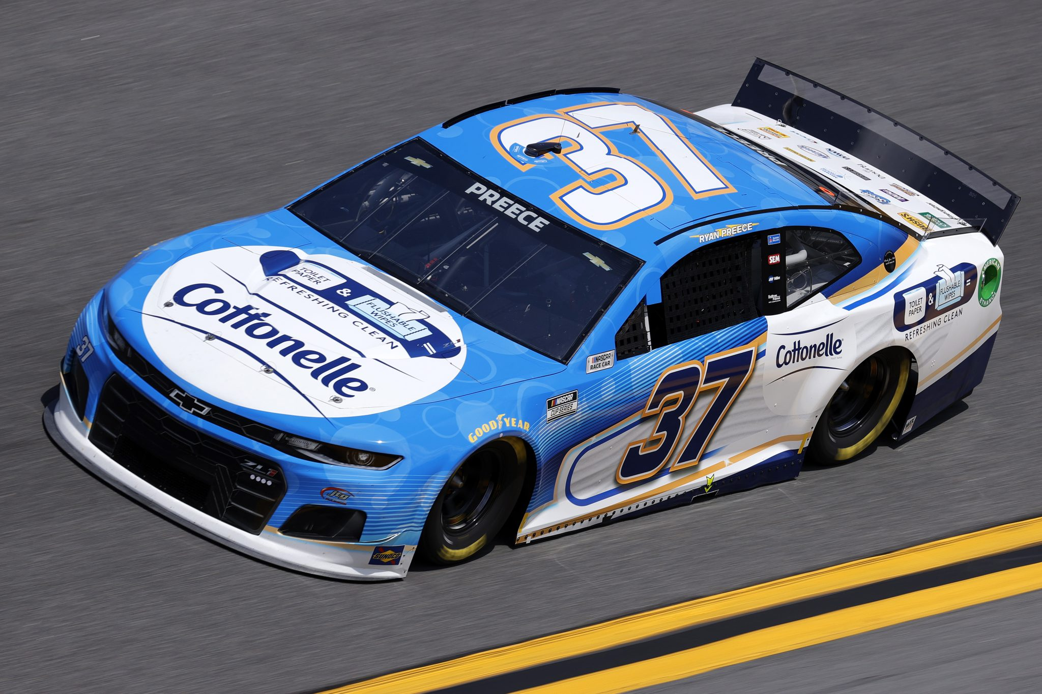 DAYTONA BEACH, FLORIDA - FEBRUARY 10: Ryan Preece, driver of the #37 Cottonelle Chevrolet, drives during practice for the NASCAR Cup Series 63rd Annual Daytona 500 at Daytona International Speedway on February 10, 2021 in Daytona Beach, Florida. (Photo by Jared C. Tilton/Getty Images) | Getty Images