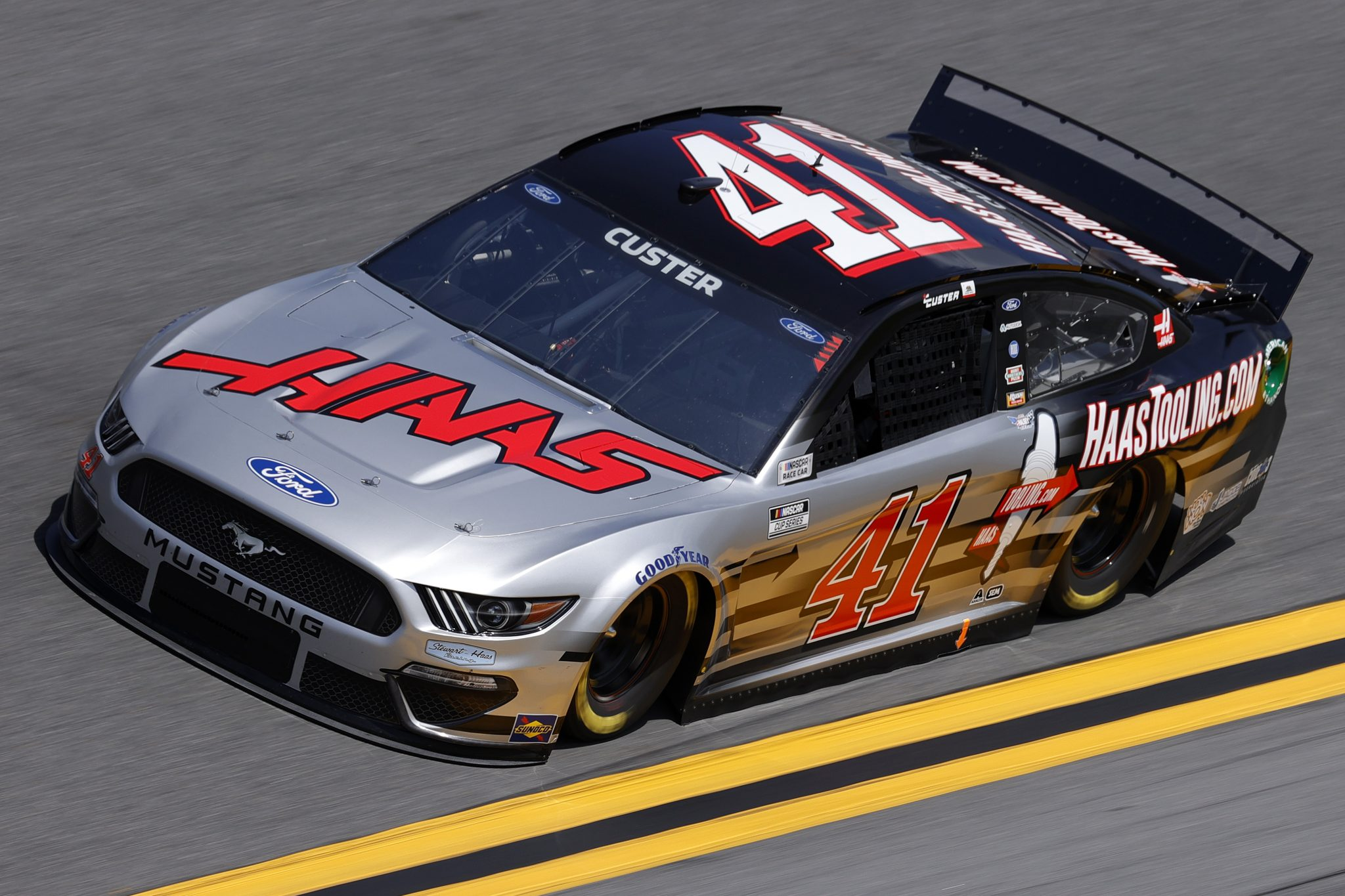 DAYTONA BEACH, FLORIDA - FEBRUARY 10: Cole Custer, driver of the #41 HaasTooling.com Ford, drives during practice for the NASCAR Cup Series 63rd Annual Daytona 500 at Daytona International Speedway on February 10, 2021 in Daytona Beach, Florida. (Photo by Jared C. Tilton/Getty Images) | Getty Images