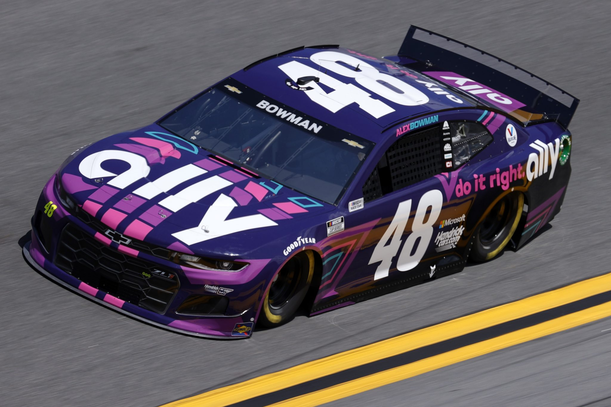 DAYTONA BEACH, FLORIDA - FEBRUARY 10: Alex Bowman, driver of the #48 Ally Chevrolet, drives during practice for the NASCAR Cup Series 63rd Annual Daytona 500 at Daytona International Speedway on February 10, 2021 in Daytona Beach, Florida. (Photo by Jared C. Tilton/Getty Images) | Getty Images