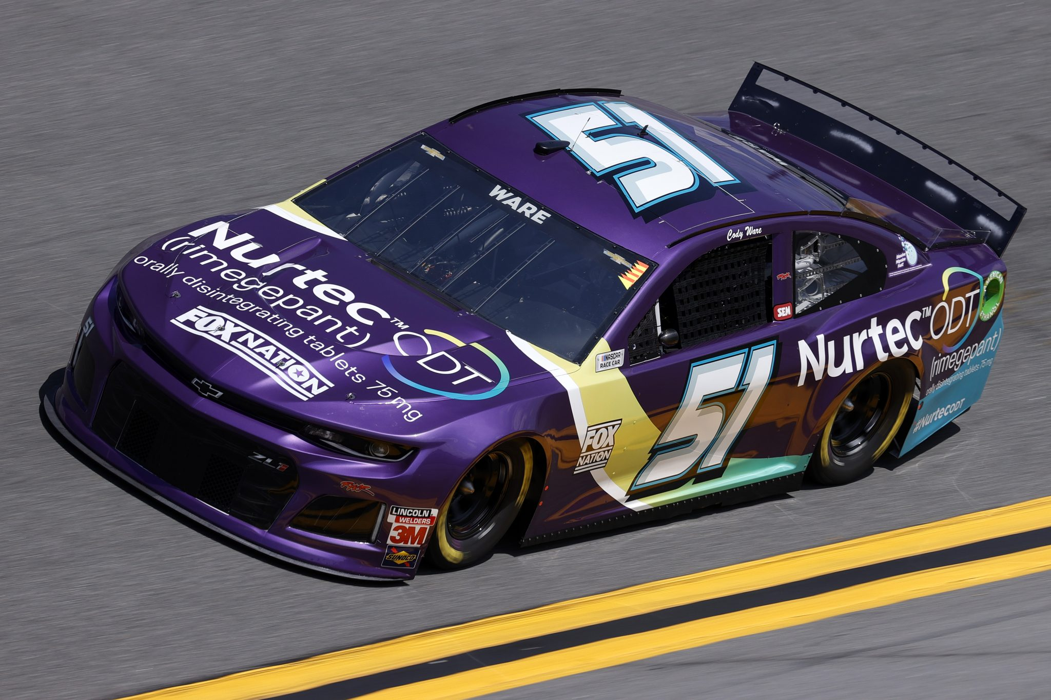 DAYTONA BEACH, FLORIDA - FEBRUARY 10: Cody Ware, driver of the #51 Nurtec ODT Chevrolet, drives during practice for the NASCAR Cup Series 63rd Annual Daytona 500 at Daytona International Speedway on February 10, 2021 in Daytona Beach, Florida. (Photo by Jared C. Tilton/Getty Images) | Getty Images