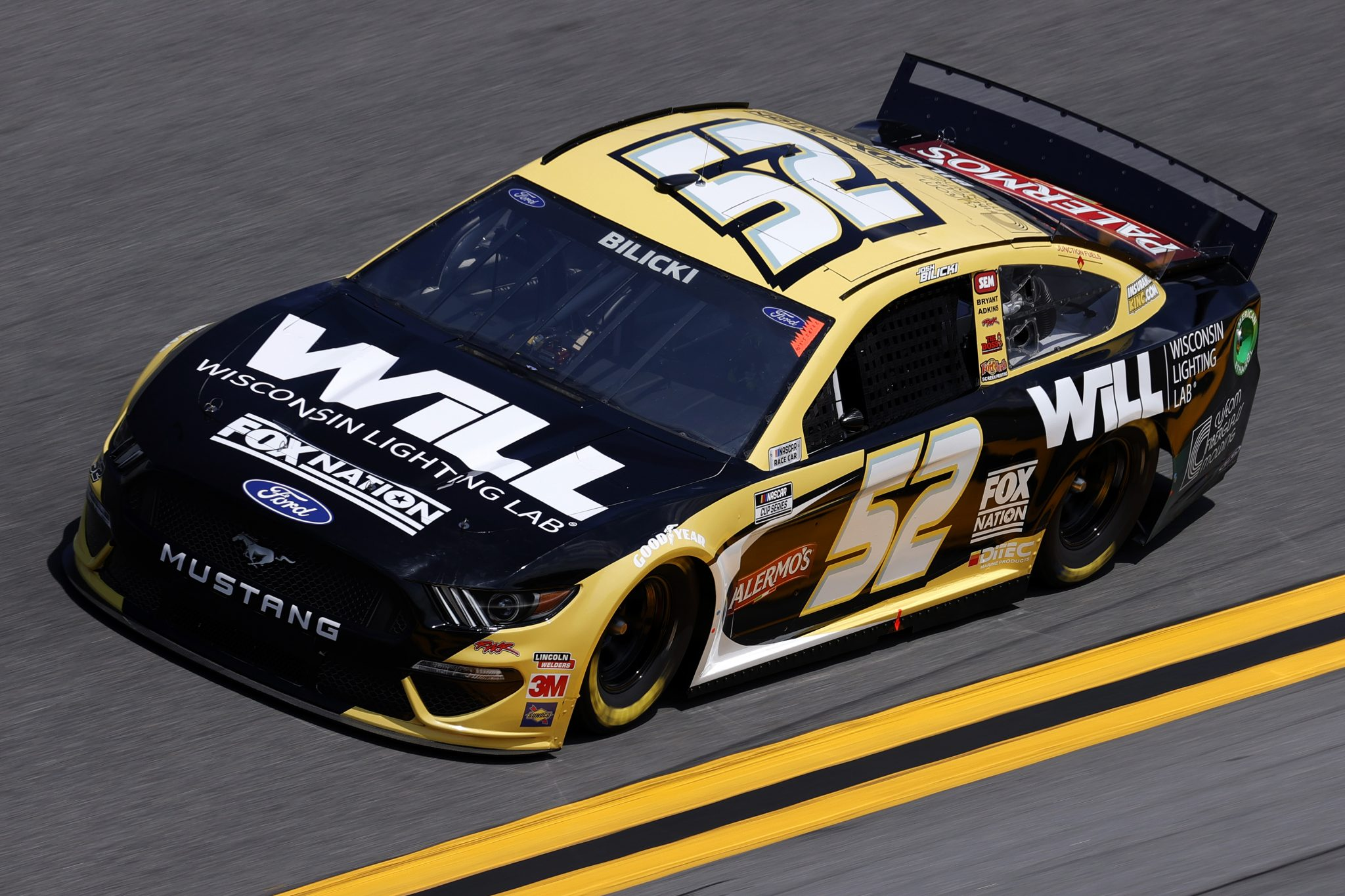 DAYTONA BEACH, FLORIDA - FEBRUARY 10: Josh Bilicki, driver of the #52 Wisconsin Lighting Lab Ford, drives during practice for the NASCAR Cup Series 63rd Annual Daytona 500 at Daytona International Speedway on February 10, 2021 in Daytona Beach, Florida. (Photo by Jared C. Tilton/Getty Images) | Getty Images