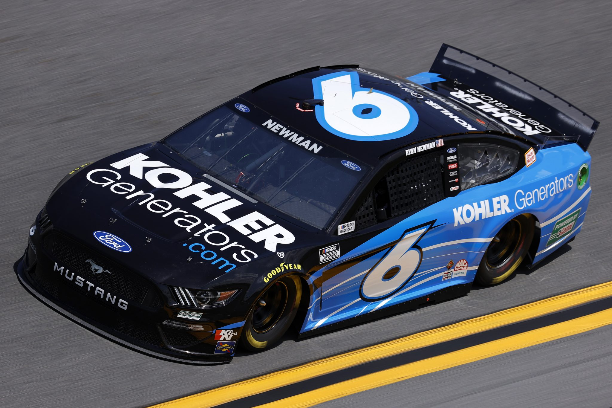 DAYTONA BEACH, FLORIDA - FEBRUARY 10: Ryan Newman, driver of the #6 Kohler Generators Ford, drives during practice for the NASCAR Cup Series 63rd Annual Daytona 500 at Daytona International Speedway on February 10, 2021 in Daytona Beach, Florida. (Photo by Jared C. Tilton/Getty Images) | Getty Images