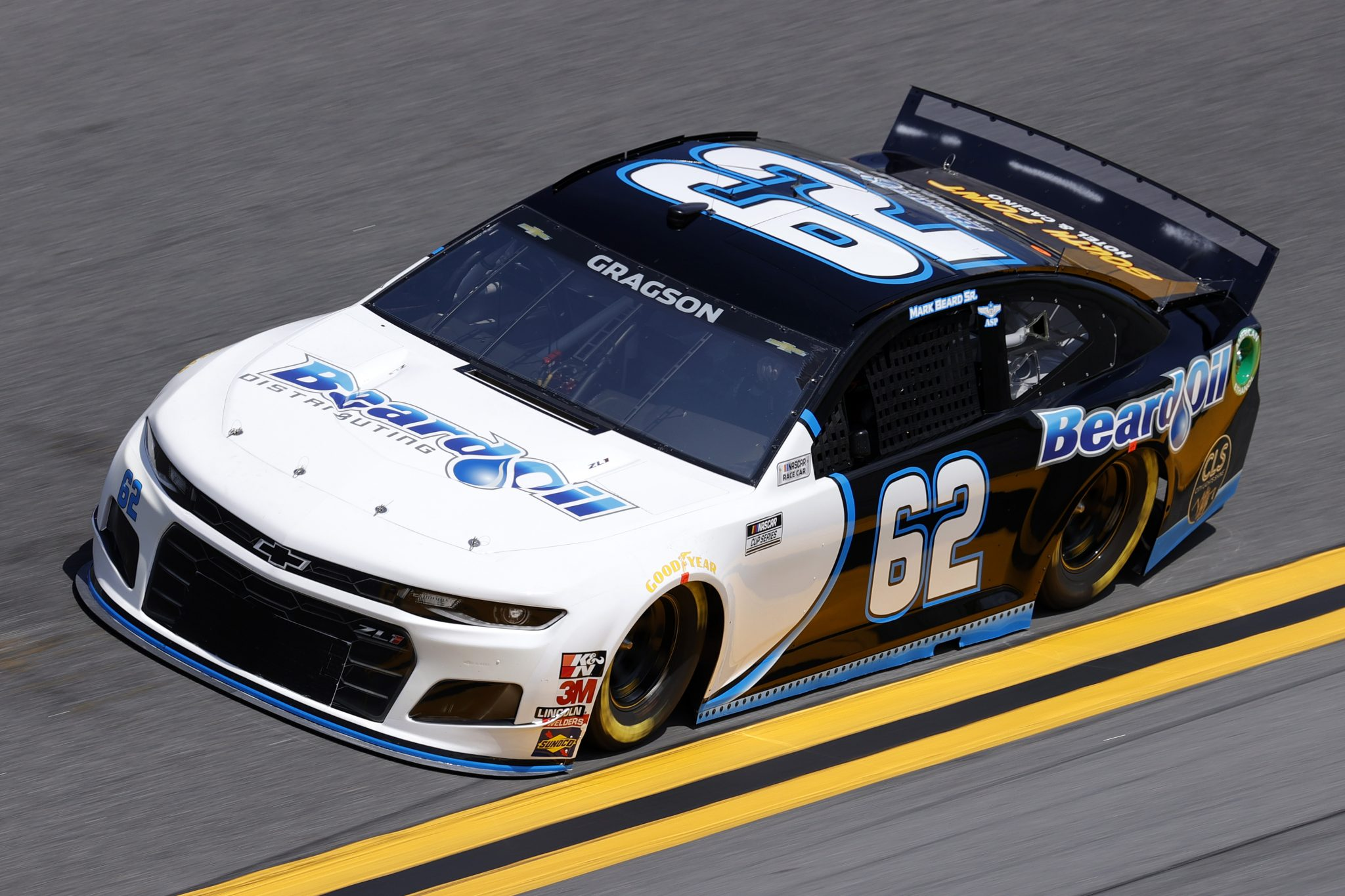 DAYTONA BEACH, FLORIDA - FEBRUARY 10: Noah Gragson, driver of the #62 Beard Motorsports/South Point Chevrolet, drives during practice for the NASCAR Cup Series 63rd Annual Daytona 500 at Daytona International Speedway on February 10, 2021 in Daytona Beach, Florida. (Photo by Jared C. Tilton/Getty Images) | Getty Images