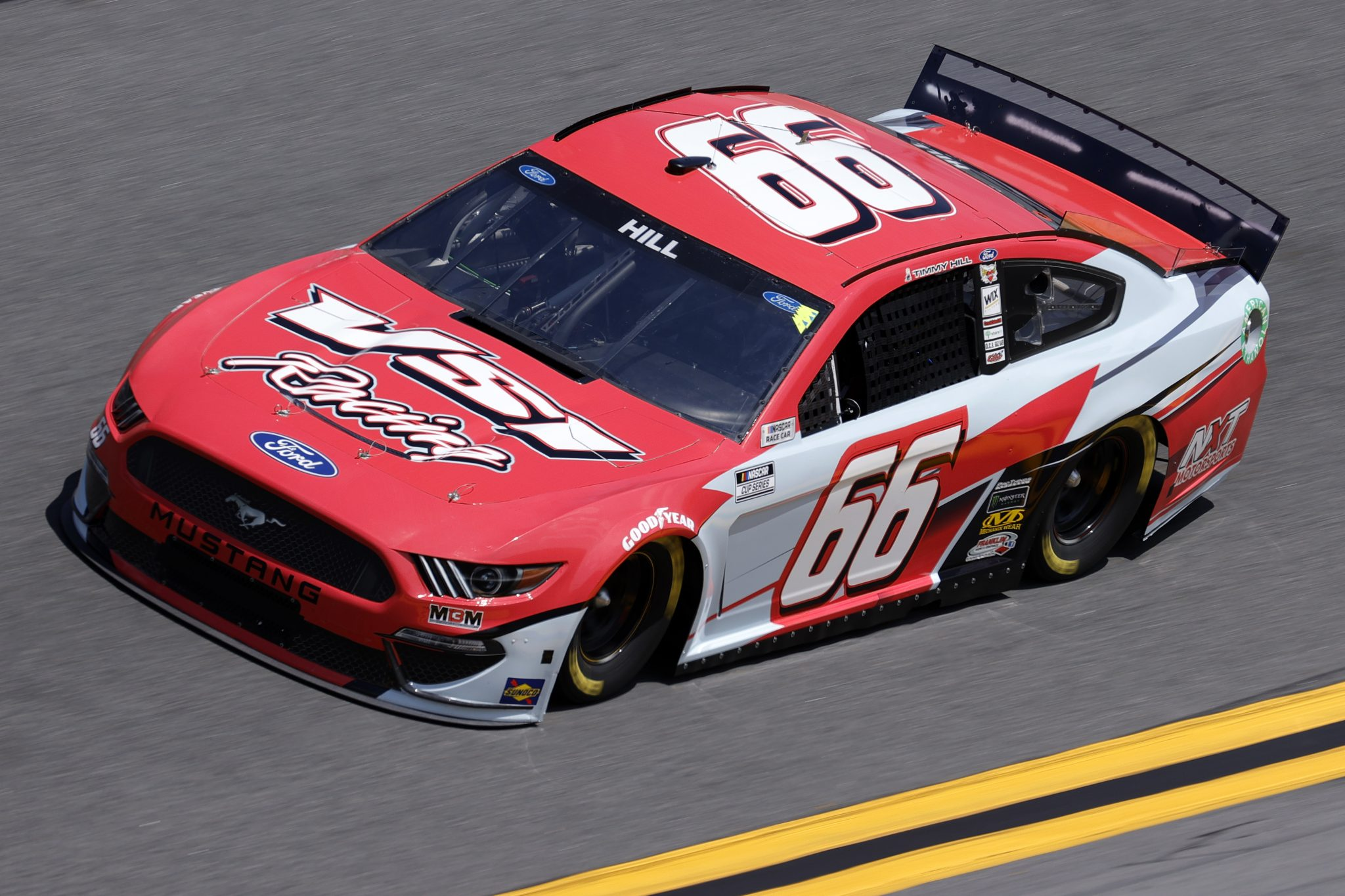 DAYTONA BEACH, FLORIDA - FEBRUARY 10: Timmy Hill, driver of the #66 VSI Racing Ford, drives during practice for the NASCAR Cup Series 63rd Annual Daytona 500 at Daytona International Speedway on February 10, 2021 in Daytona Beach, Florida. (Photo by Jared C. Tilton/Getty Images) | Getty Images
