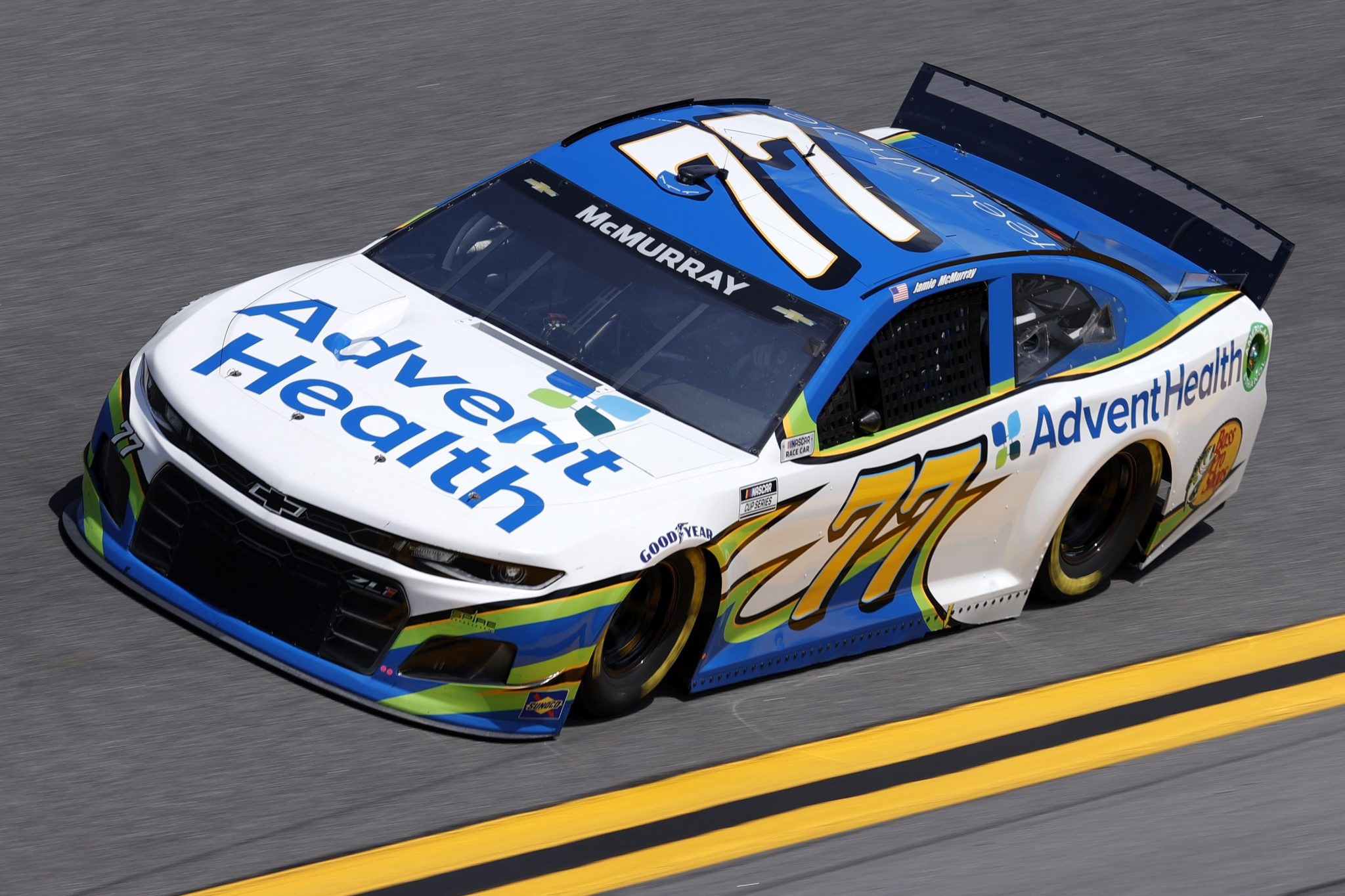 DAYTONA BEACH, FLORIDA - FEBRUARY 10: Jamie McMurray, driver of the #77 AdventHealth Chevrolet, drives during practice for the NASCAR Cup Series 63rd Annual Daytona 500 at Daytona International Speedway on February 10, 2021 in Daytona Beach, Florida. (Photo by Jared C. Tilton/Getty Images) | Getty Images