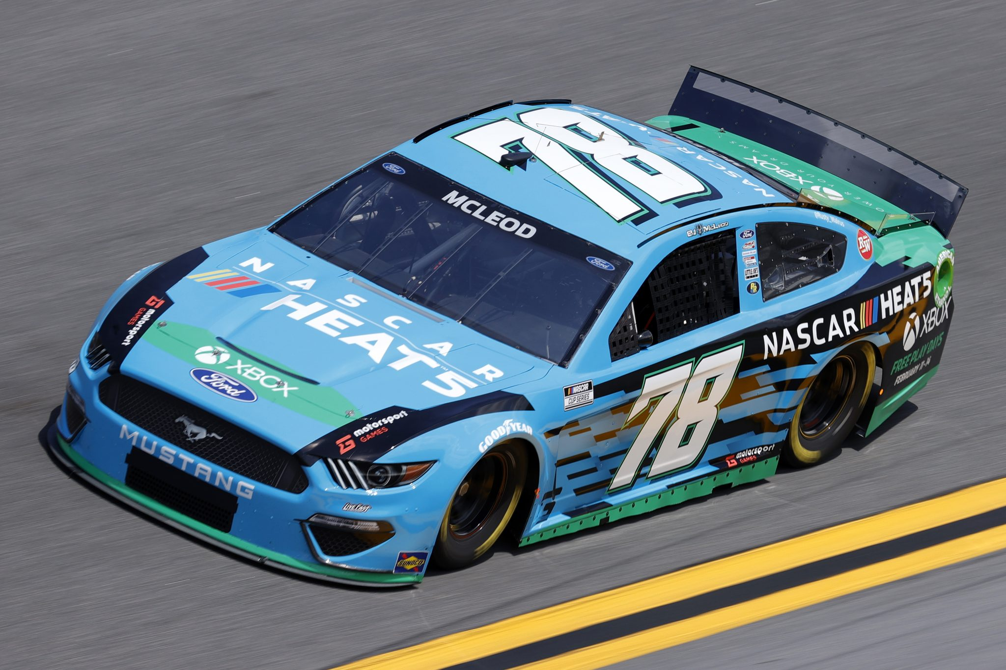 DAYTONA BEACH, FLORIDA - FEBRUARY 10: BJ McLeod,driver of the #78 Ford drives during practice for the NASCAR Cup Series 63rd Annual Daytona 500 at Daytona International Speedway on February 10, 2021 in Daytona Beach, Florida. (Photo by Jared C. Tilton/Getty Images) | Getty Images