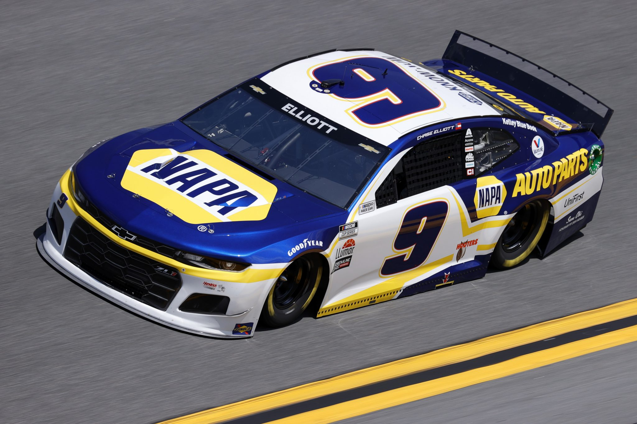 DAYTONA BEACH, FLORIDA - FEBRUARY 10: Chase Elliott, driver of the #9 NAPA Auto Parts Chevrolet, drives during practice for the NASCAR Cup Series 63rd Annual Daytona 500 at Daytona International Speedway on February 10, 2021 in Daytona Beach, Florida. (Photo by Jared C. Tilton/Getty Images) | Getty Images