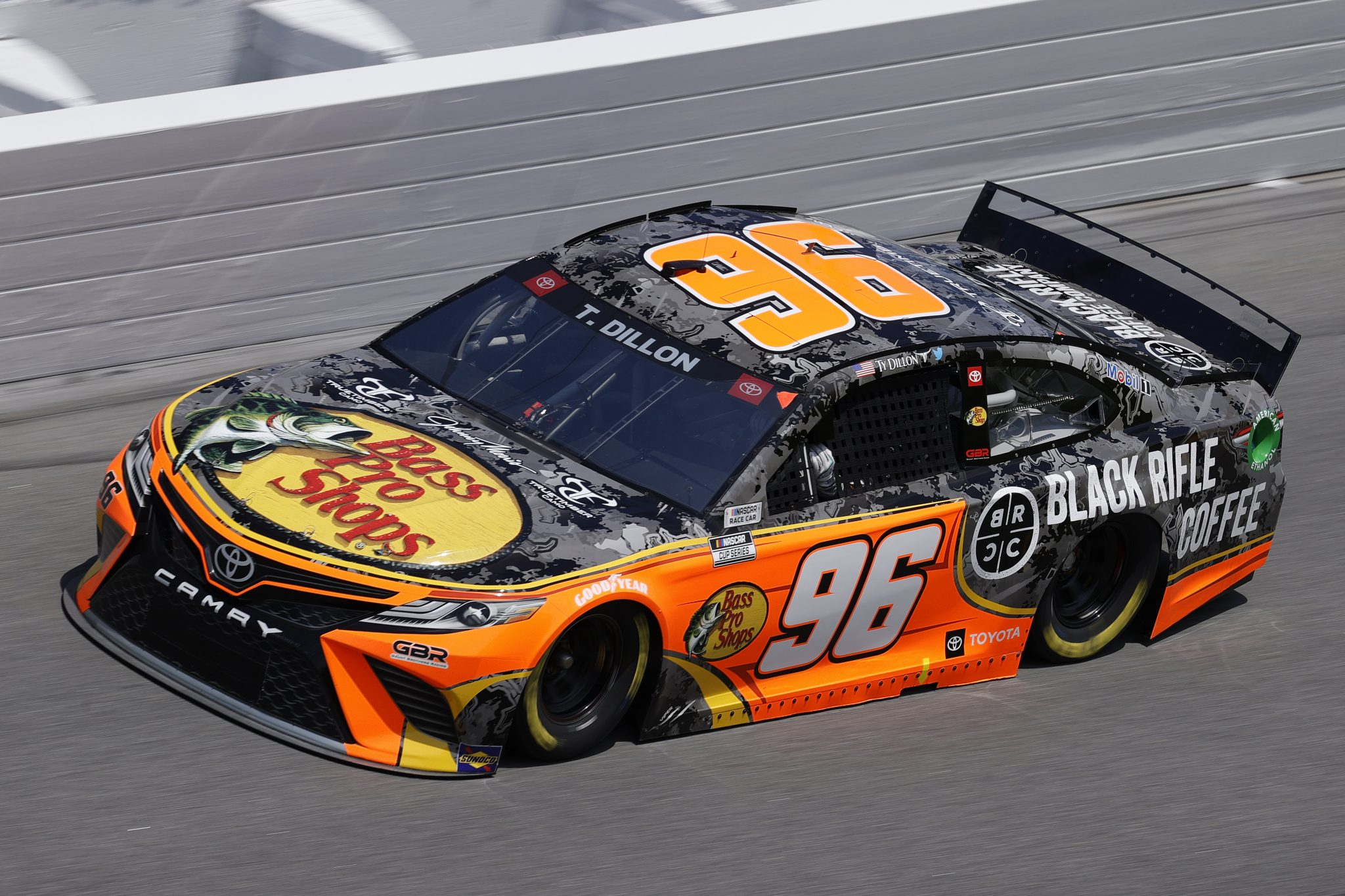 DAYTONA BEACH, FLORIDA - FEBRUARY 10: Ty Dillon, driver of the #96 Bass Pro Shops/Black Rifle Coffee Toyota, during practice for the NASCAR Cup Series 63rd Annual Daytona 500 at Daytona International Speedway on February 10, 2021 in Daytona Beach, Florida. (Photo by Jared C. Tilton/Getty Images) | Getty Images