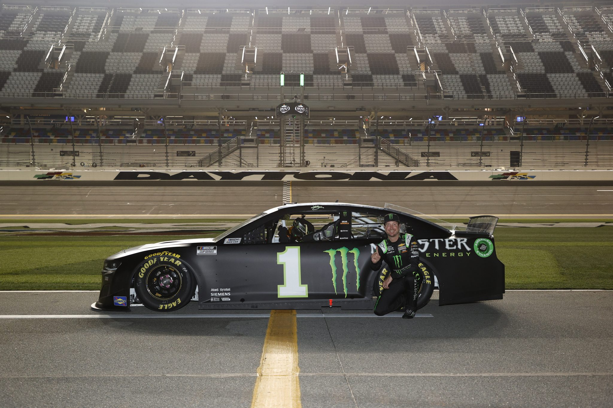 DAYTONA BEACH, FLORIDA - FEBRUARY 10: Kurt Busch, driver of the #1 Monster Energy Chevrolet, poses for photos during qualifying for the NASCAR Cup Series 63rd Annual Daytona 500 at Daytona International Speedway on February 10, 2021 in Daytona Beach, Florida. (Photo by Jared C. Tilton/Getty Images) | Getty Images