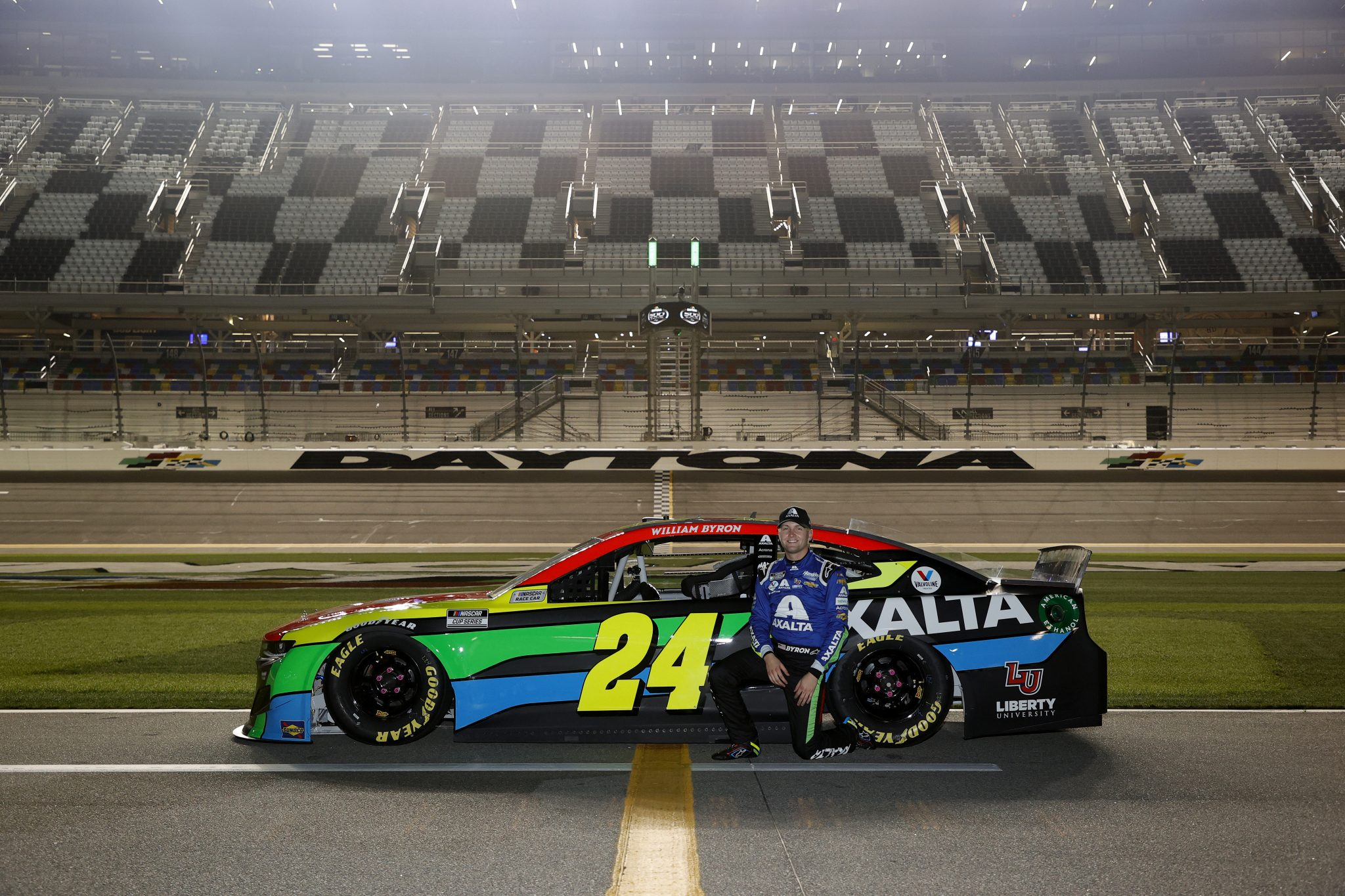 DAYTONA BEACH, FLORIDA - FEBRUARY 10: William Byron, driver of the #24 Axalta Chevrolet, poses for photos during qualifying for the NASCAR Cup Series 63rd Annual Daytona 500 at Daytona International Speedway on February 10, 2021 in Daytona Beach, Florida. (Photo by Jared C. Tilton/Getty Images) | Getty Images