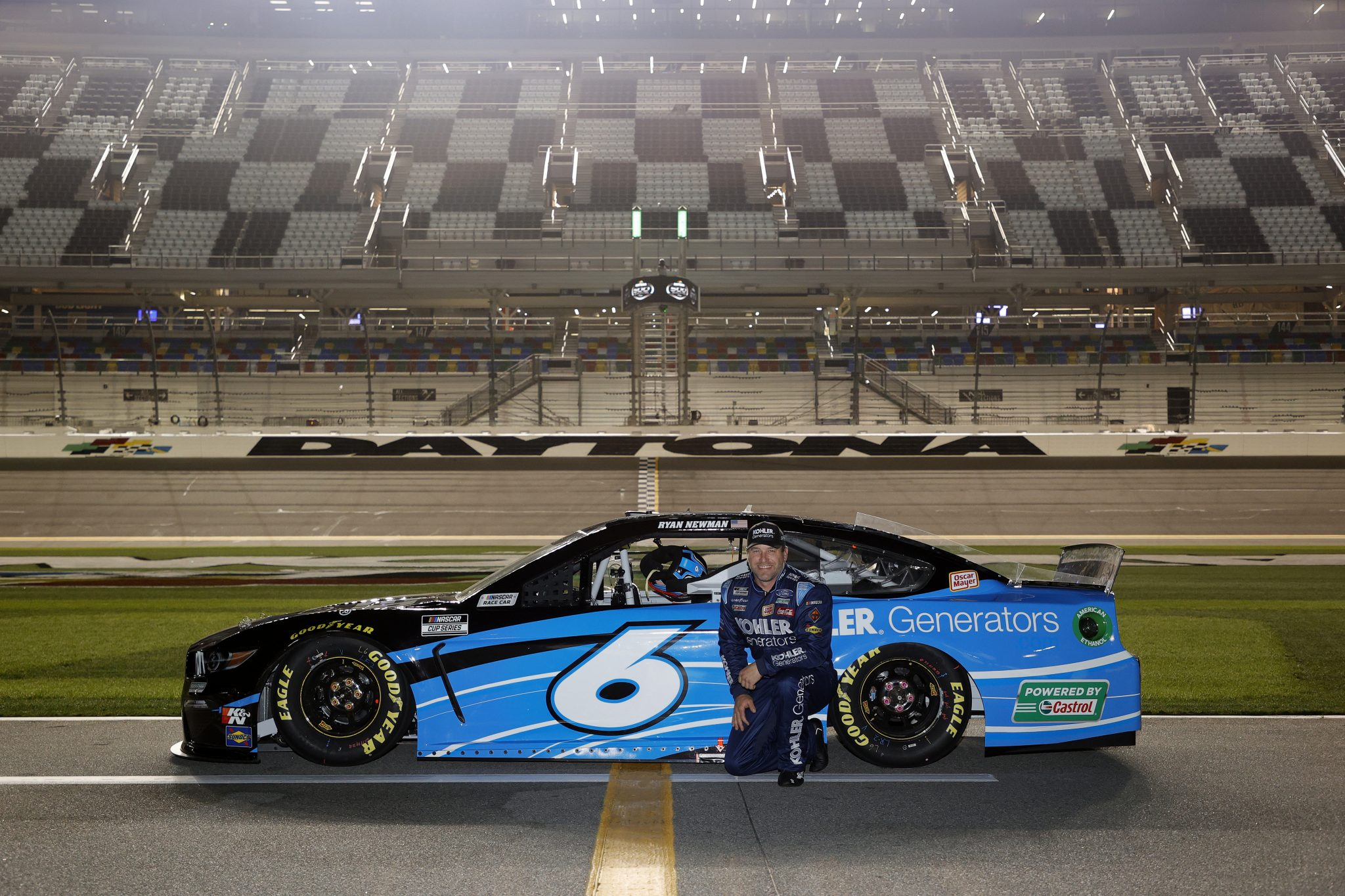 DAYTONA BEACH, FLORIDA - FEBRUARY 10: Ryan Newman, driver of the #6 Kohler Generators Ford, poses for photos during qualifying for the NASCAR Cup Series 63rd Annual Daytona 500 at Daytona International Speedway on February 10, 2021 in Daytona Beach, Florida. (Photo by Jared C. Tilton/Getty Images) | Getty Images
