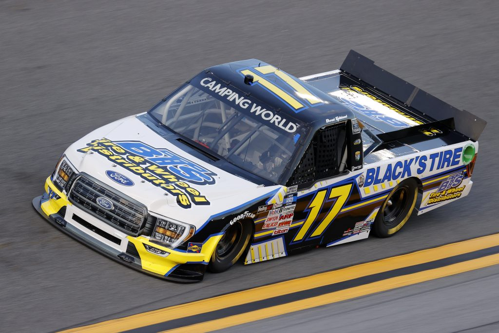 DAYTONA BEACH, FLORIDA - FEBRUARY 11: David Gilliland, driver of the #17 Black's Tire Ford, practices for the NASCAR Camping World Truck Series NextEra Energy 250 at Daytona International Speedway on February 11, 2021 in Daytona Beach, Florida. (Photo by Jared C. Tilton/Getty Images) | Getty Images