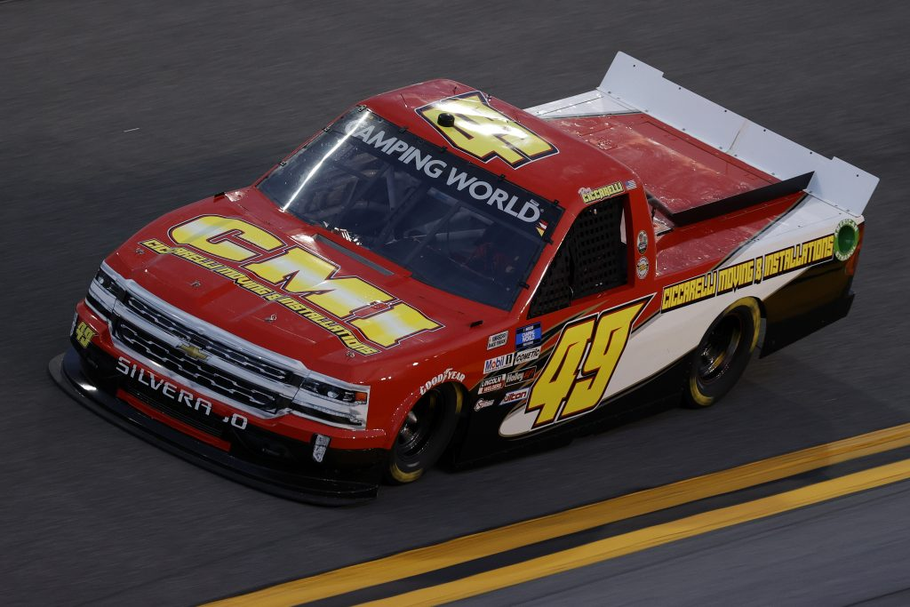 DAYTONA BEACH, FLORIDA - FEBRUARY 11: Ray Ciccarelli, driver of the #49 CMI Motorsports Chevrolet, practices for the NASCAR Camping World Truck Series NextEra Energy 250 at Daytona International Speedway on February 11, 2021 in Daytona Beach, Florida. (Photo by Jared C. Tilton/Getty Images) | Getty Images