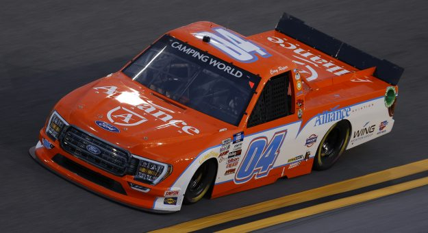 DAYTONA BEACH, FLORIDA - FEBRUARY 11: Cory Roper, driver of the #04 Alliance Aviation Ford, practices for the NASCAR Camping World Truck Series NextEra Energy 250 at Daytona International Speedway on February 11, 2021 in Daytona Beach, Florida. (Photo by Jared C. Tilton/Getty Images) | Getty Images
