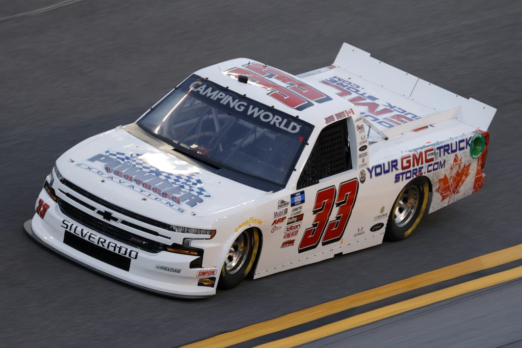 DAYTONA BEACH, FLORIDA - FEBRUARY 11: Jason White, driver of the #33 powder ventures excavations Chevrolet, practices for the NASCAR Camping World Truck Series NextEra Energy 250 at Daytona International Speedway on February 11, 2021 in Daytona Beach, Florida. (Photo by Jared C. Tilton/Getty Images) | Getty Images